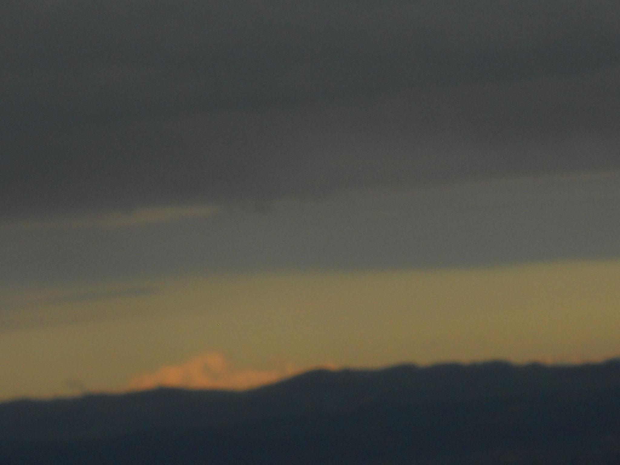 Coucher de soleil sur le Mont Blanc depuis Chavannes