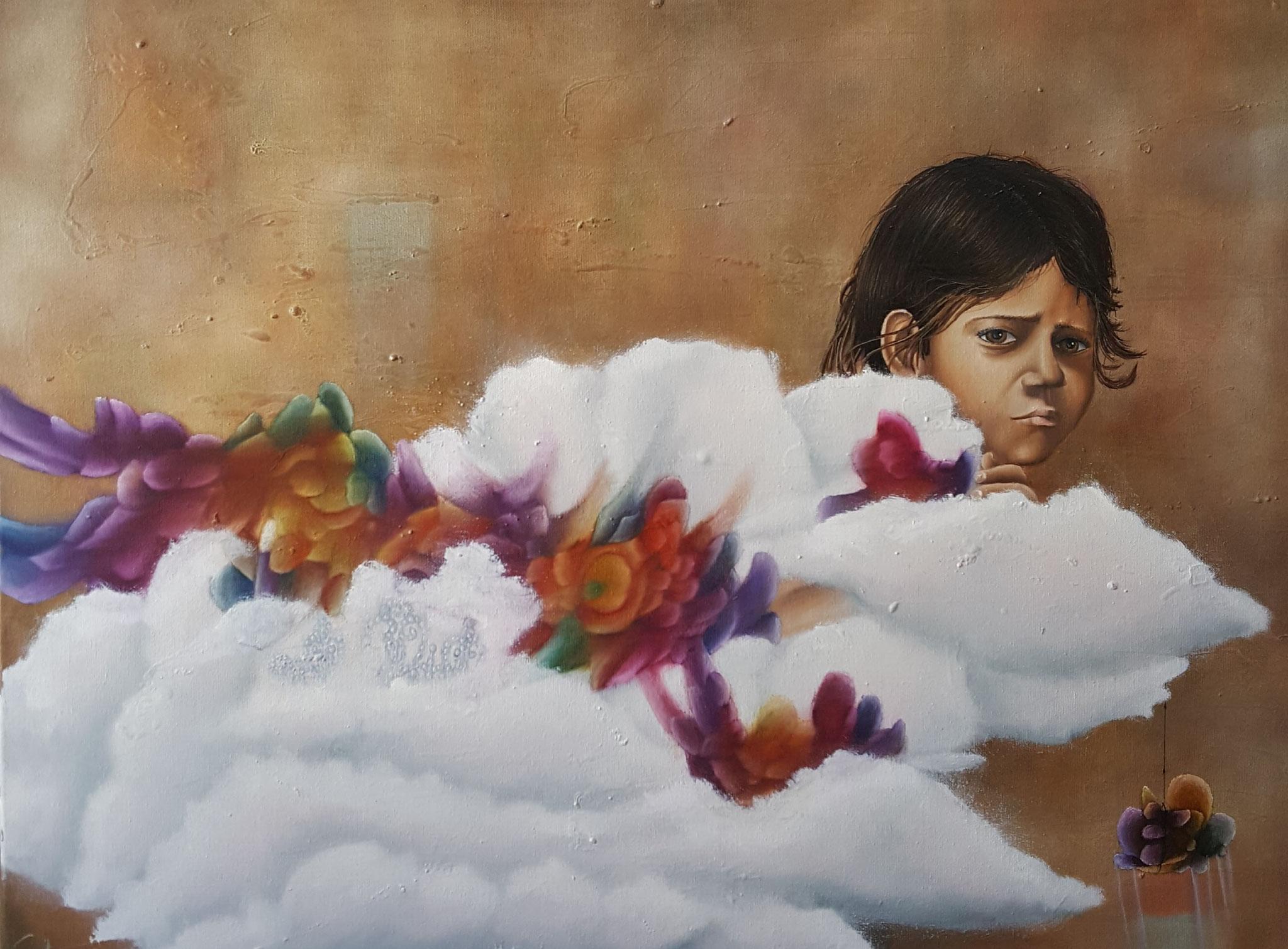 Cargador de sueños V, 2016, 80 x 60 cm, Óleo sobre lienzo