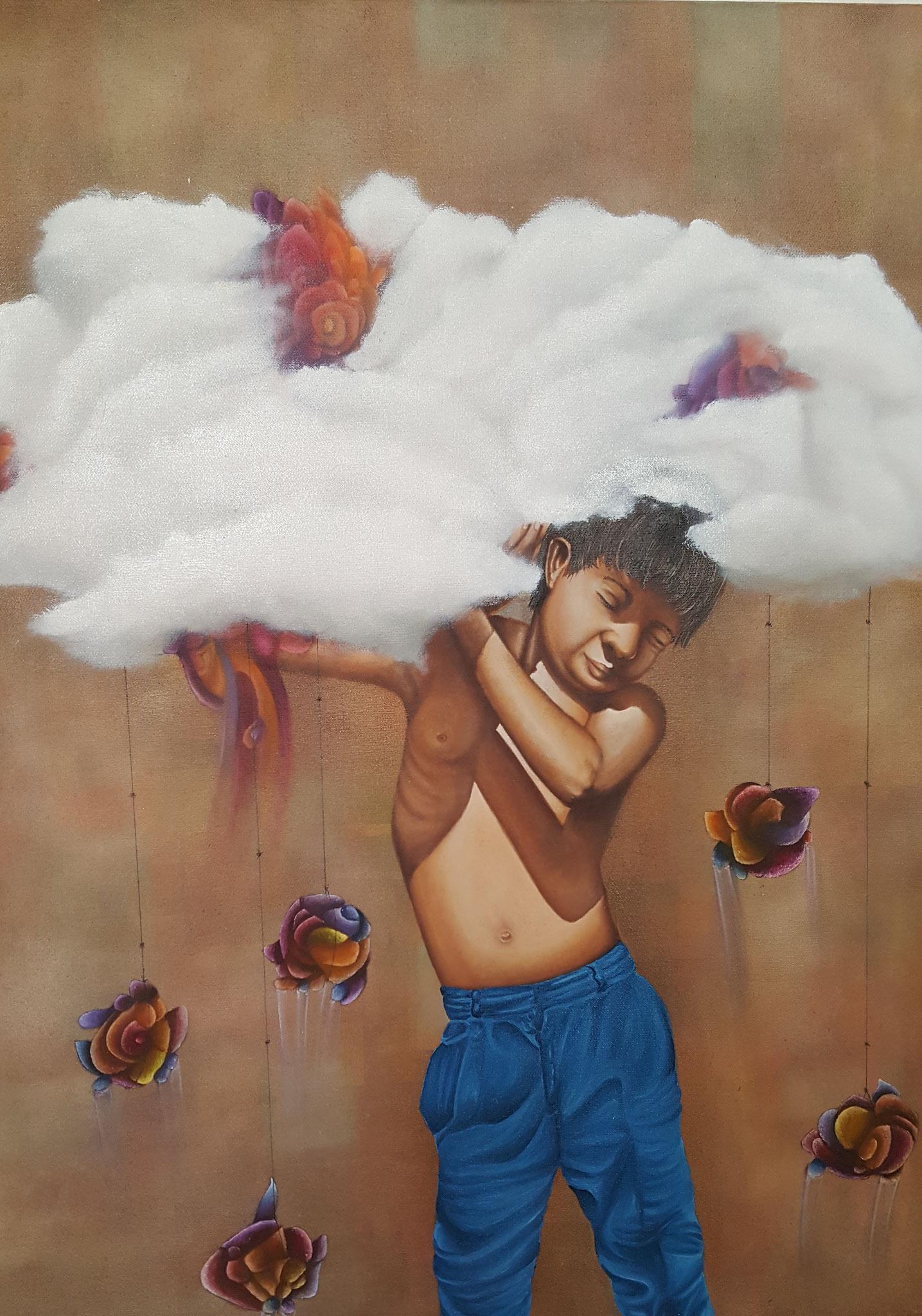 Cargador de sueños IV, 2016, 60 x 80 cm, Óleo sobre lienzo
