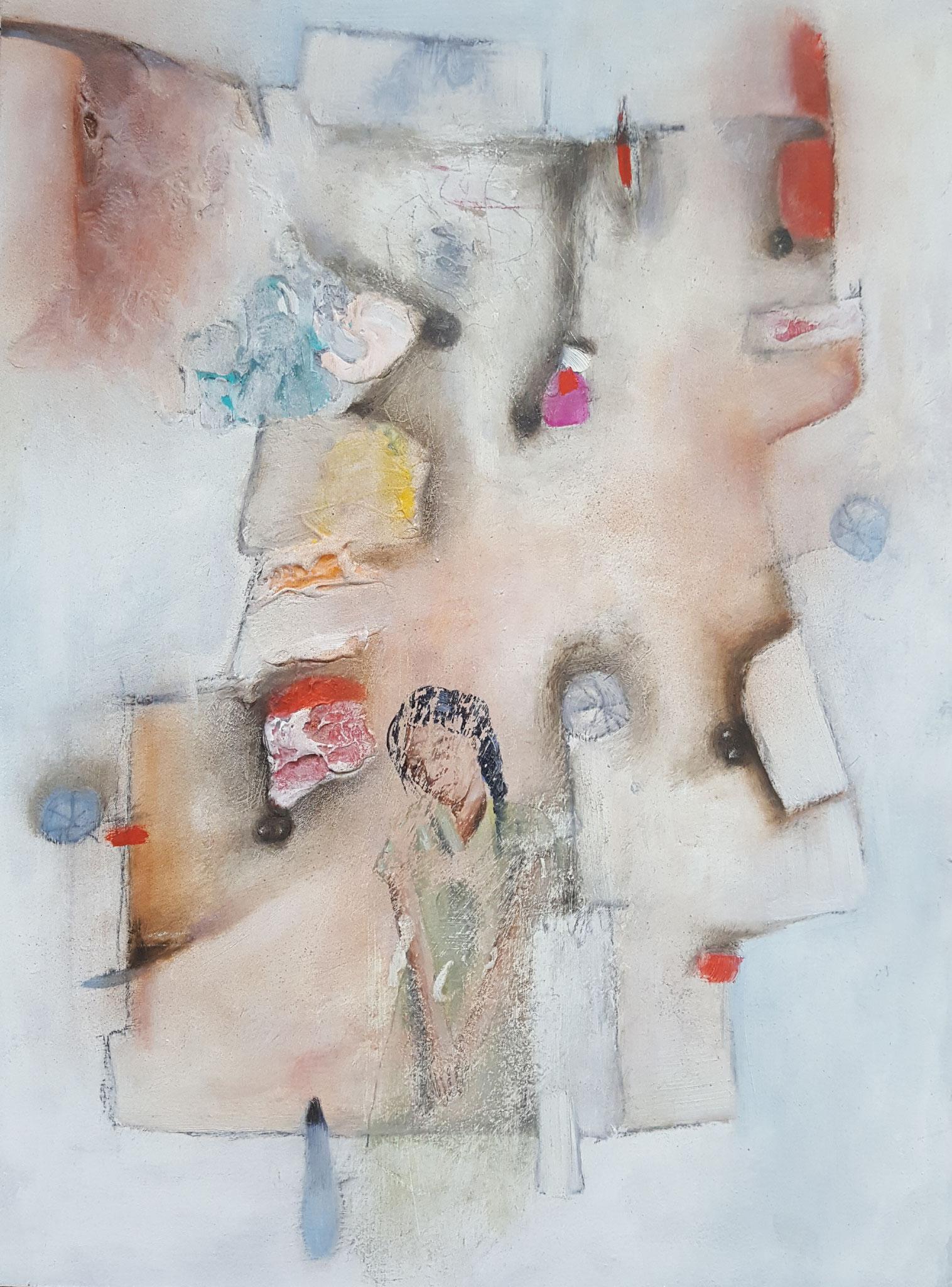 Des-aparecidos XI, 2018, 30 x 40 cm, Mixed media on canvas