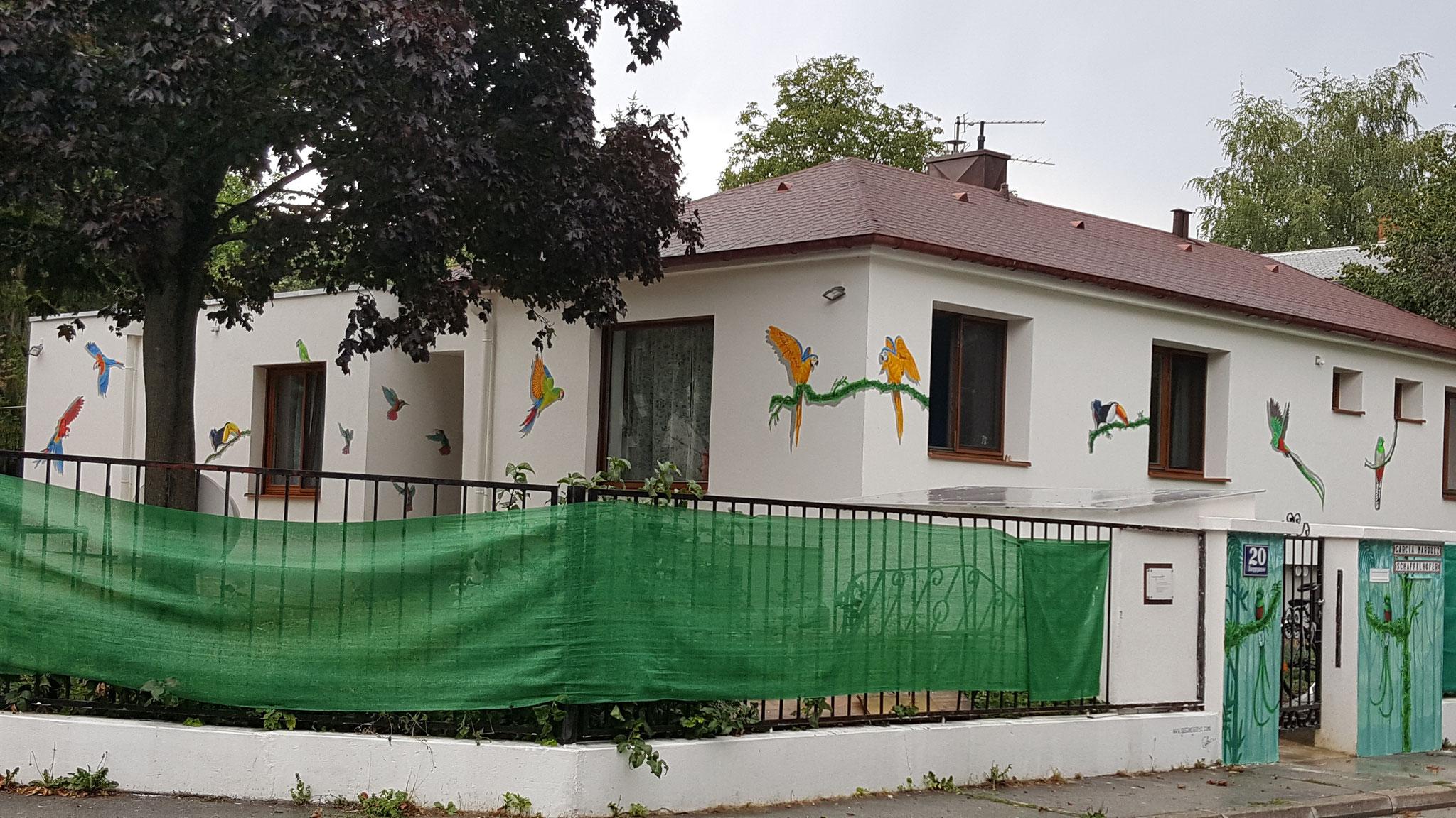 Casa de los Pajaros, acrílico, Privado - 1230 Viena