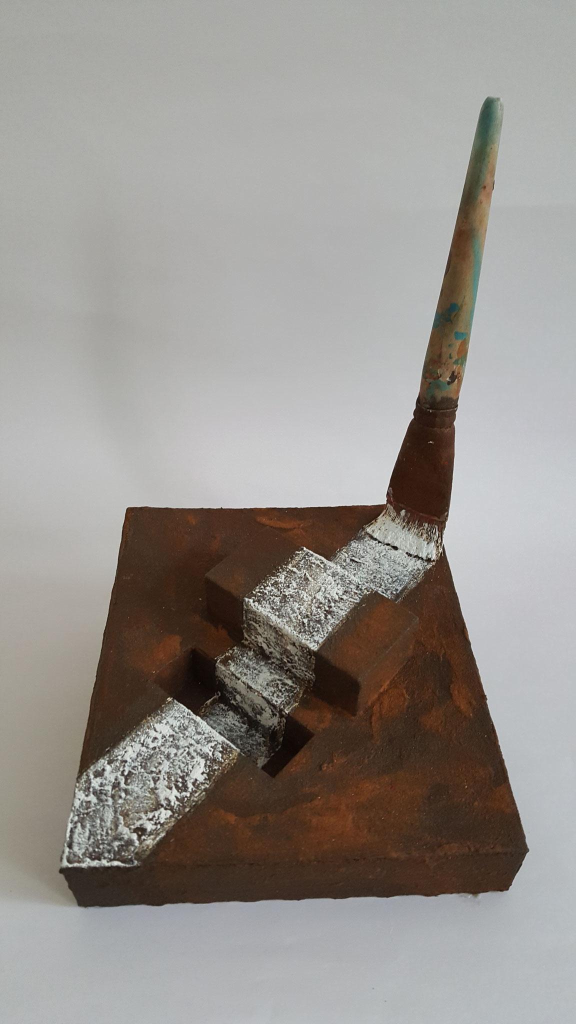 Grenzen sind menschengemacht, 2018, 25 x 21 x 19 cm, Objekt