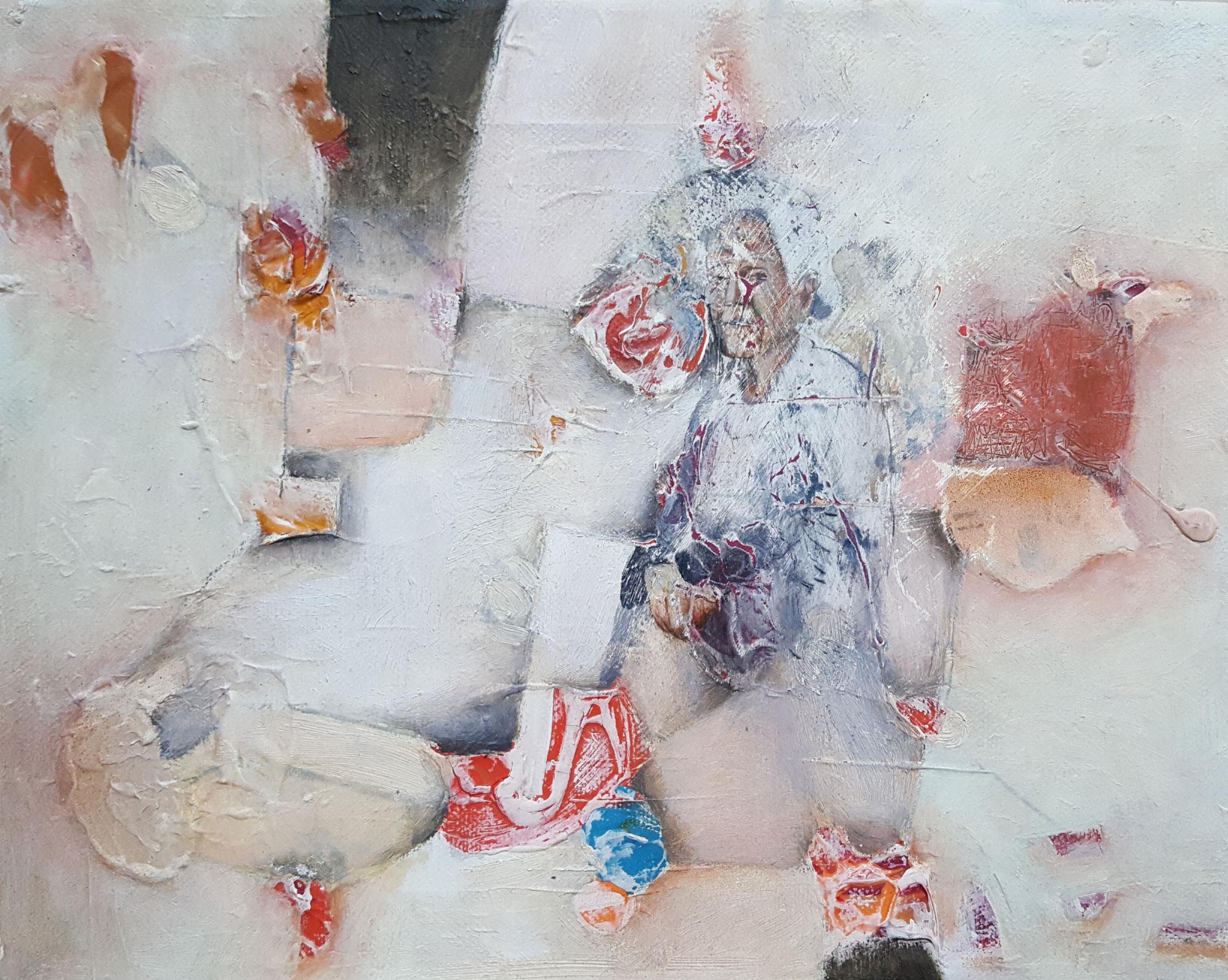 Des-aparecidos XVII, 2018, 30 x 20 cm, Mixed media on canvas