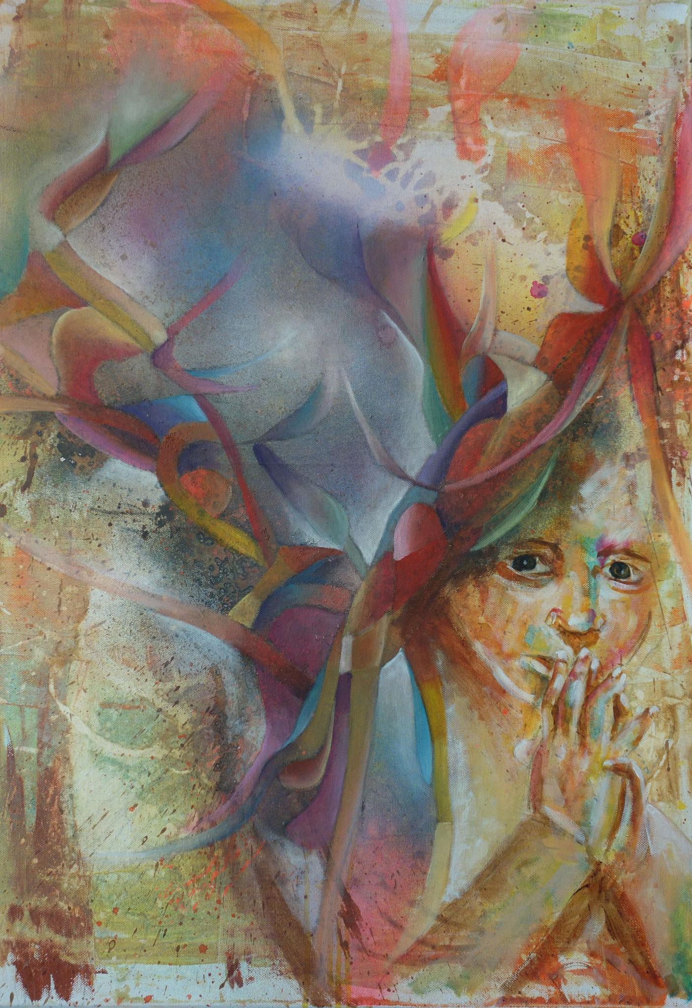 Träume in Farbe I, 2015, 60 x 80 cm, Acryl auf Leinwand