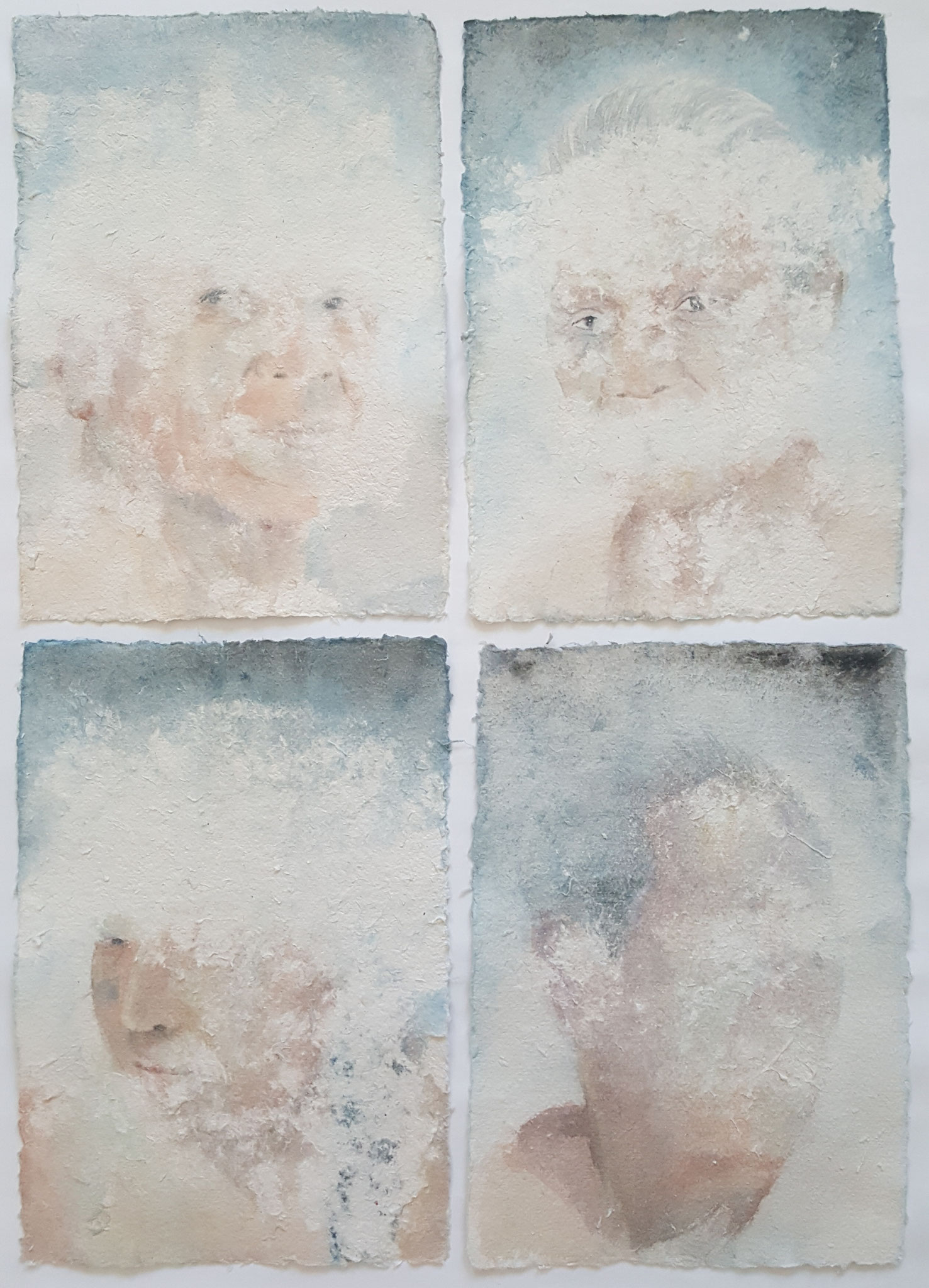Des-aparecidos XIX, 2018, Polyptichon á 20 x 30 cm, Aquarell on paper