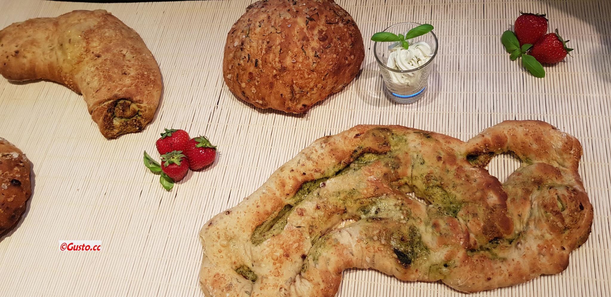 Mediterrane Brotvielfalt - selbstgebacken...