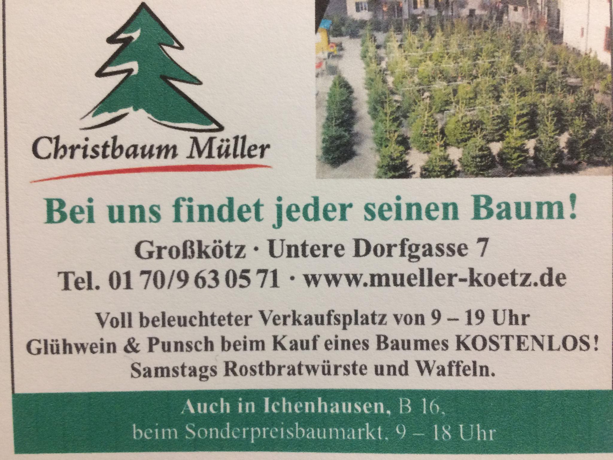 Bei uns findet jeder seinen Baum!