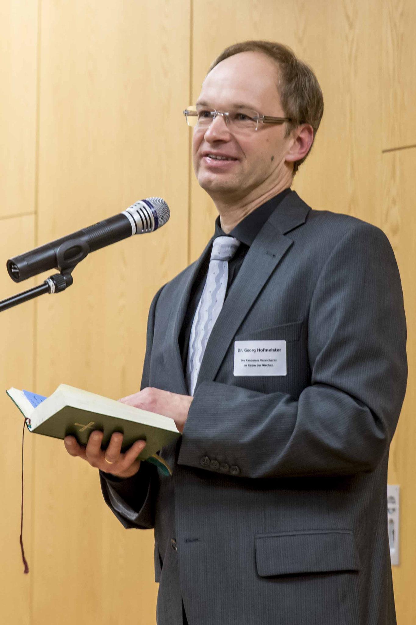 Pfr. Dr. Georg Hofmeister sprach den Lutherischen Abendsegen