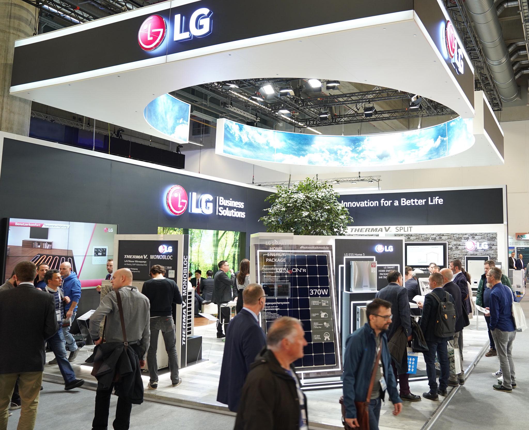 MESSEBAU - LG Electronics auf der ISH 2019, Frankfurt