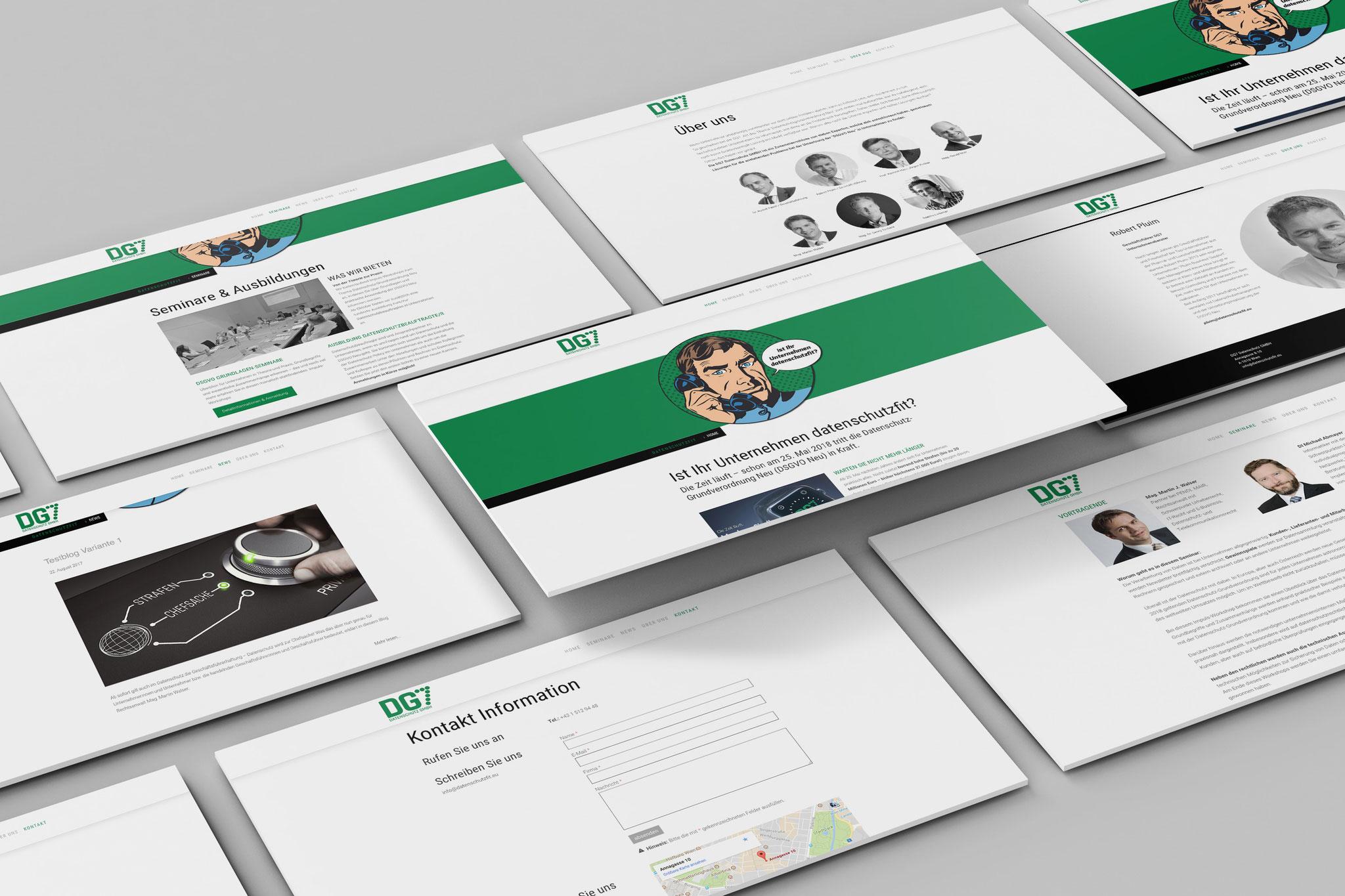 DG7 – www.datenschutzfit.eu – Webdesign/Screendesign