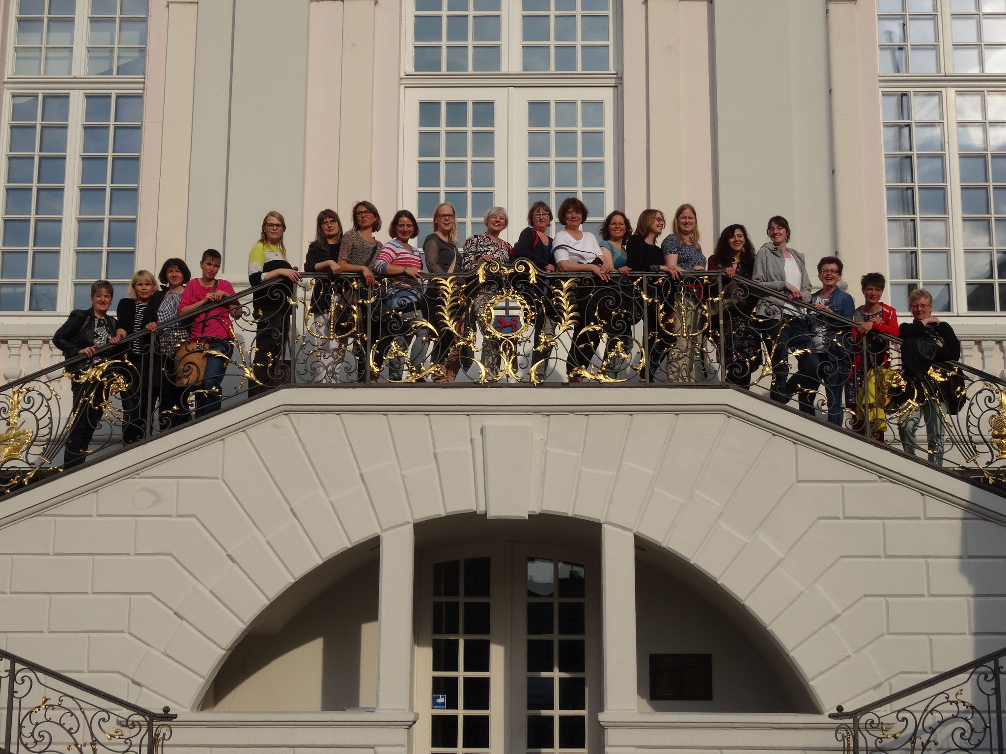 Gruppenbild am Bonner Rathaus