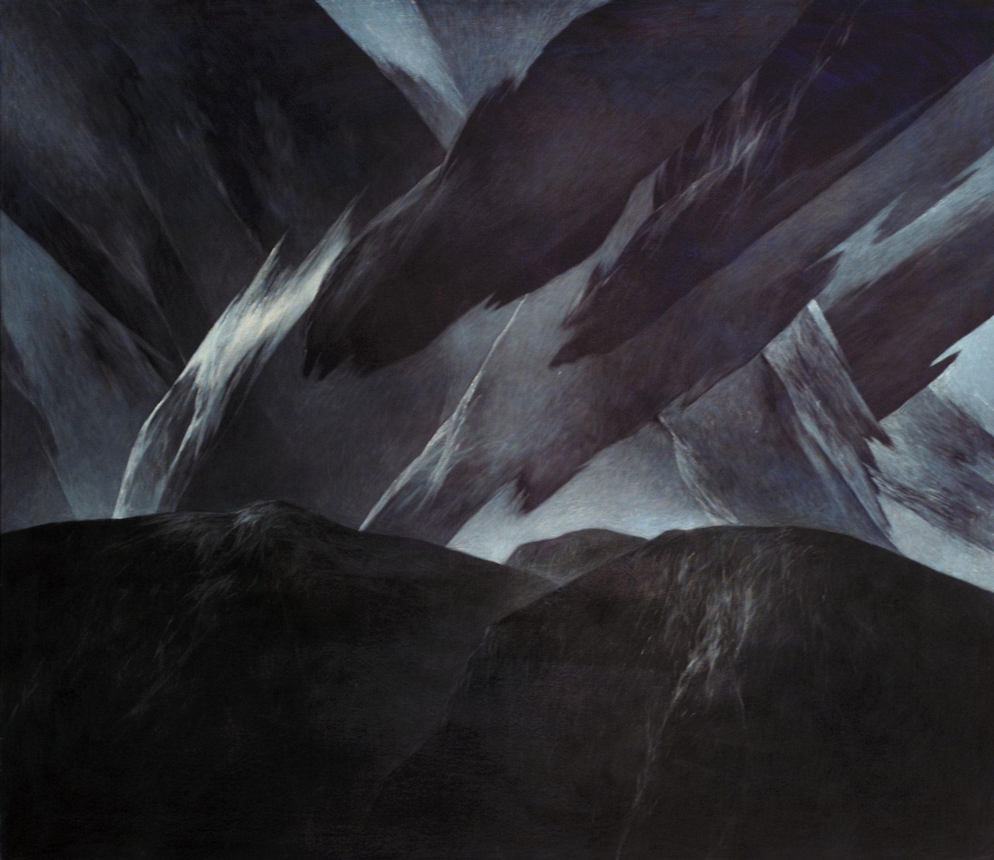 Josef Taucher, Nacht 1, 2001, Öl/Molino, 135 x 150 cm © Josef Taucher