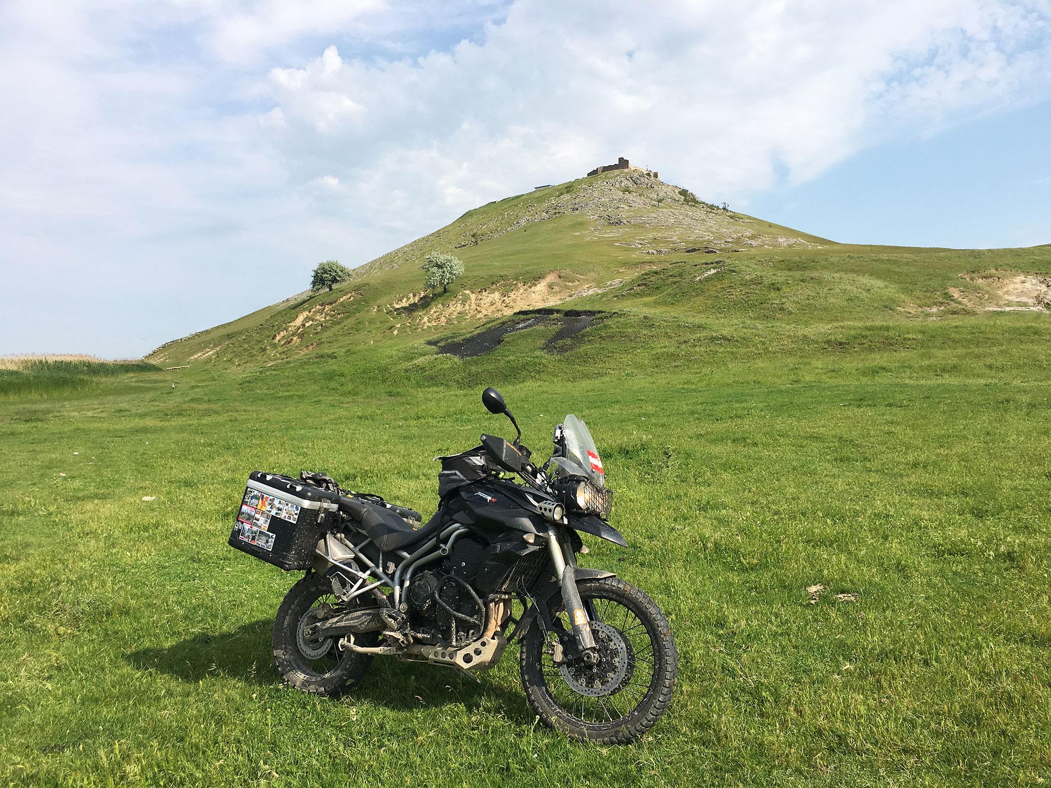 Beim Fort Enisala, Rumänien