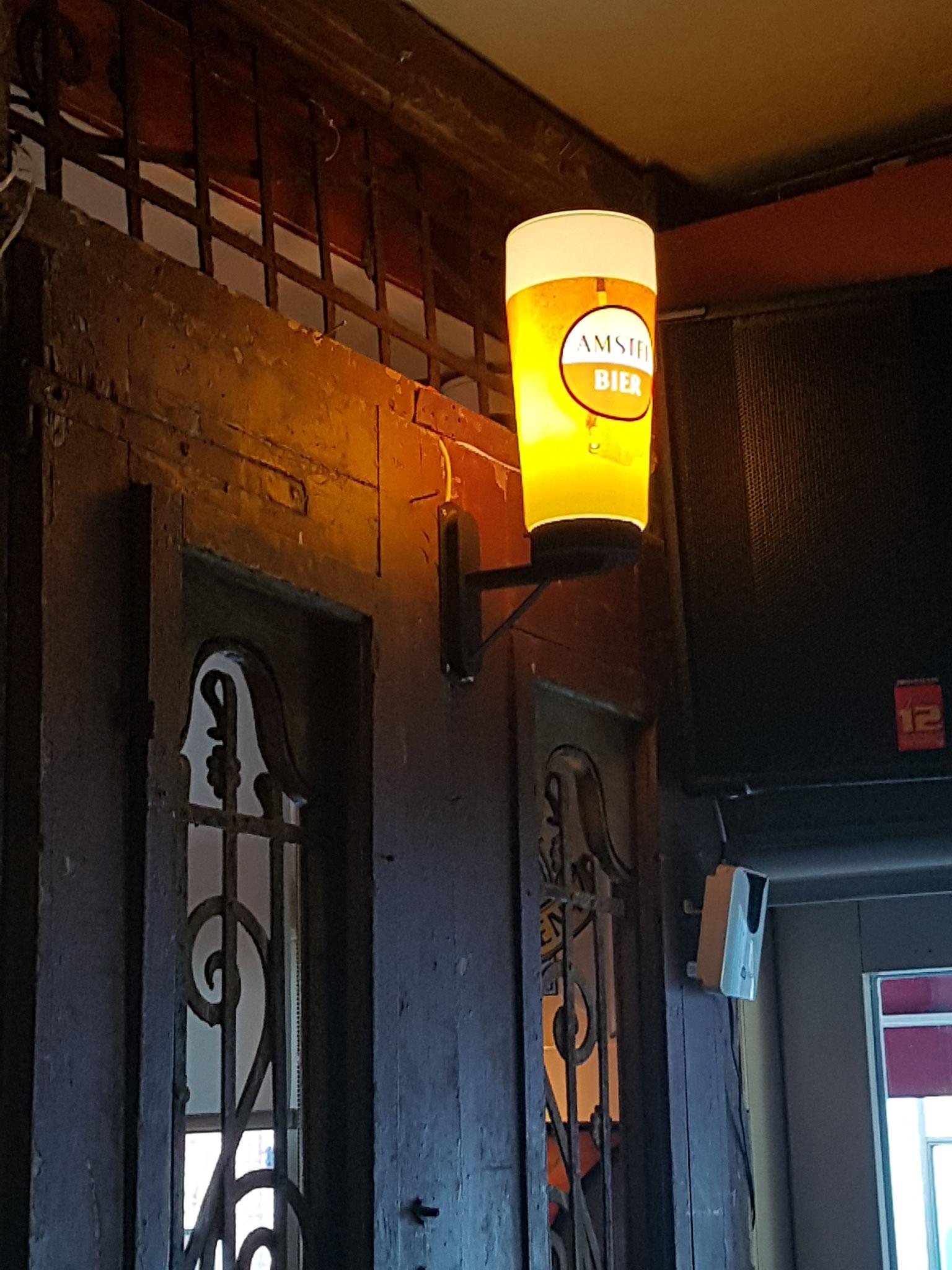 Amstel bier wandlamp