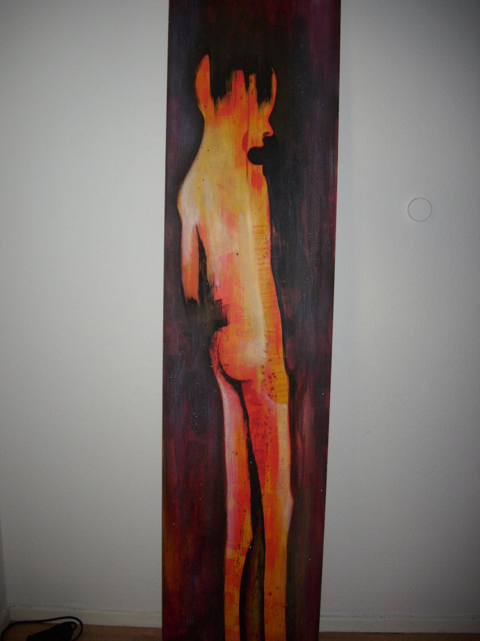 Acryl auf Hartfaser  215cm x50 cm