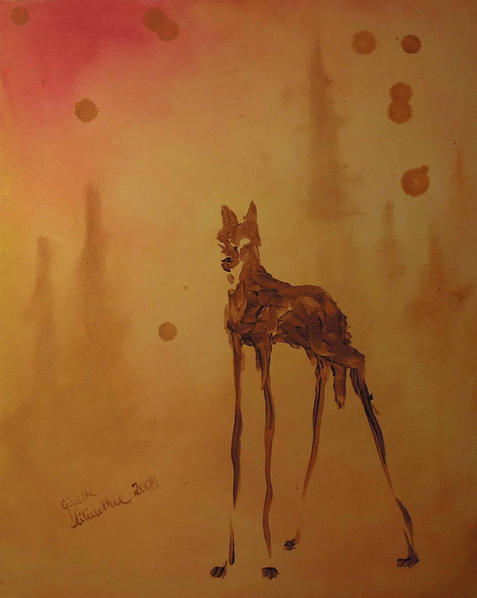 Wolf - Öl auf Leinwand 40 x 50 cm