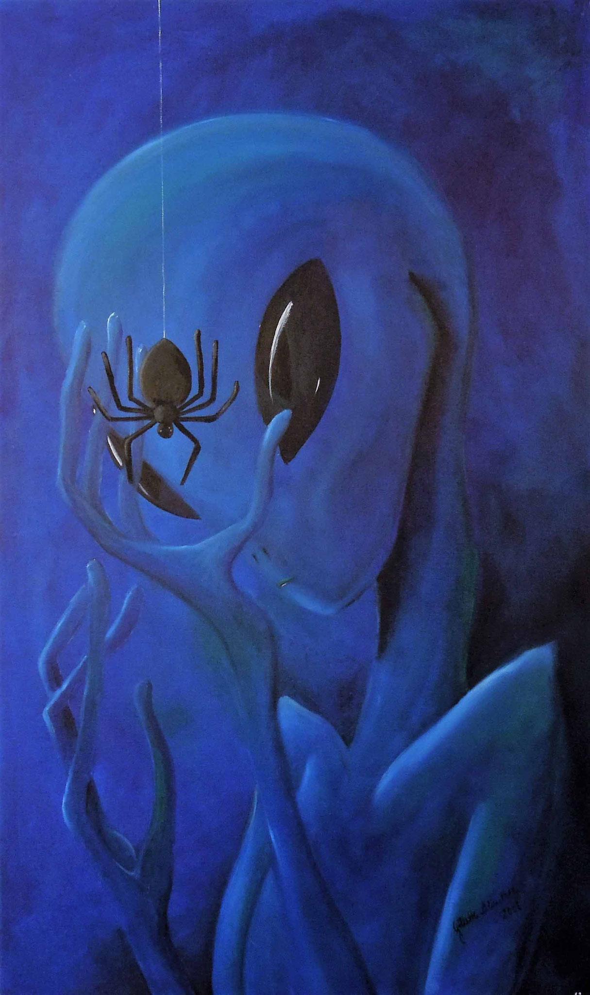 Fremde Wesen - Öl auf Leinwand 60 x 100 cm