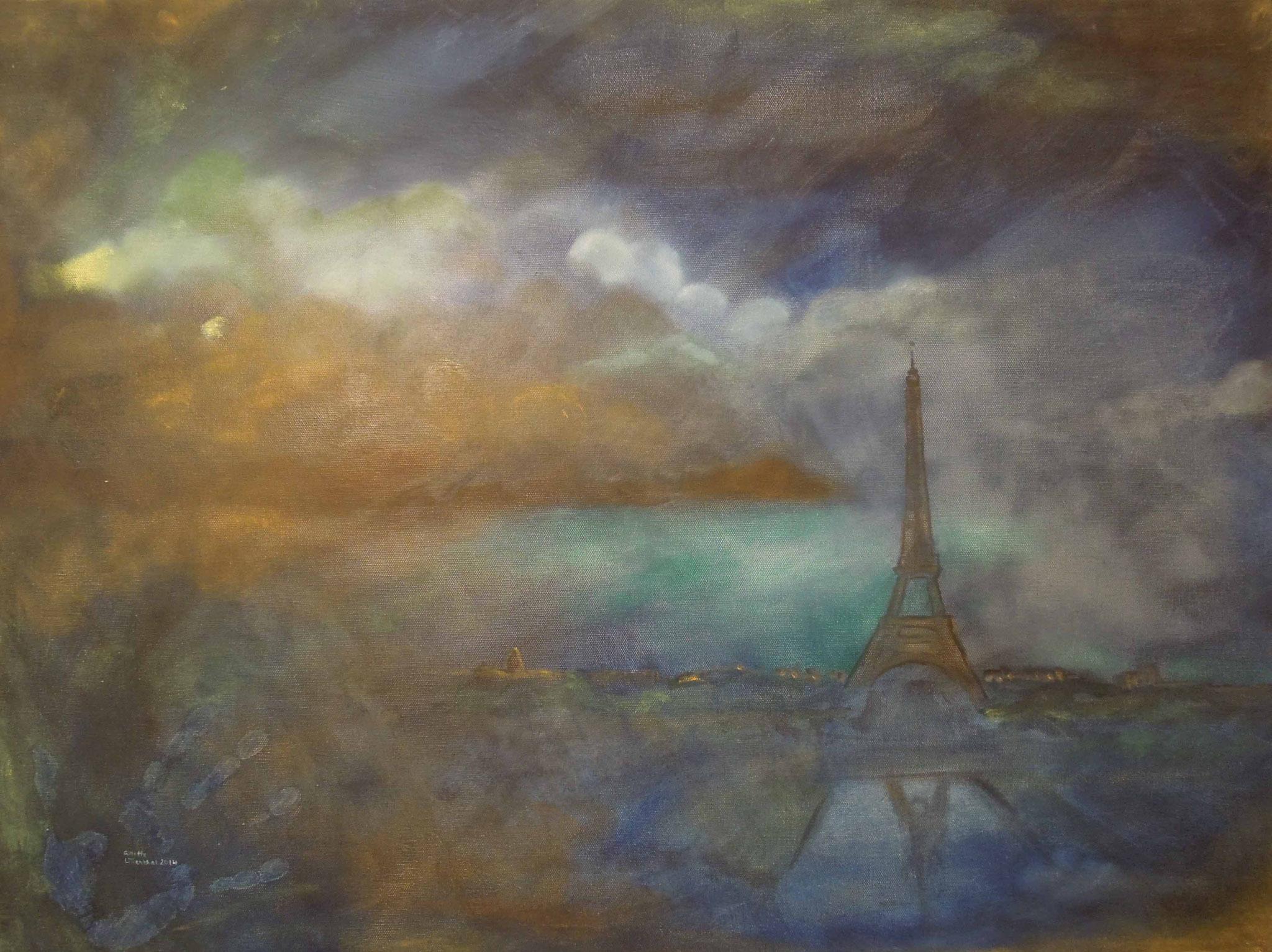 Paris - Öl auf Leinwand 80 x 60 cm