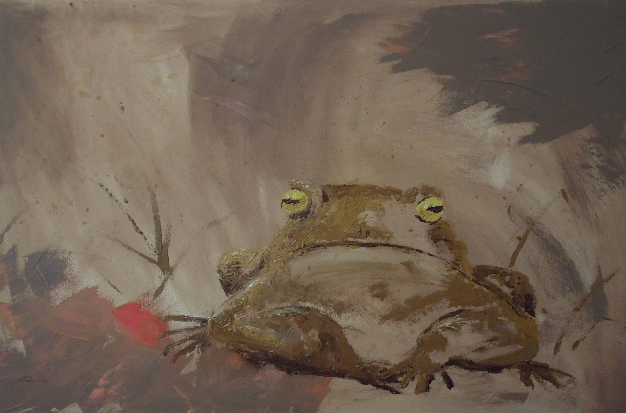 Kröte - Öl auf Leinwand 90 x 60 cm