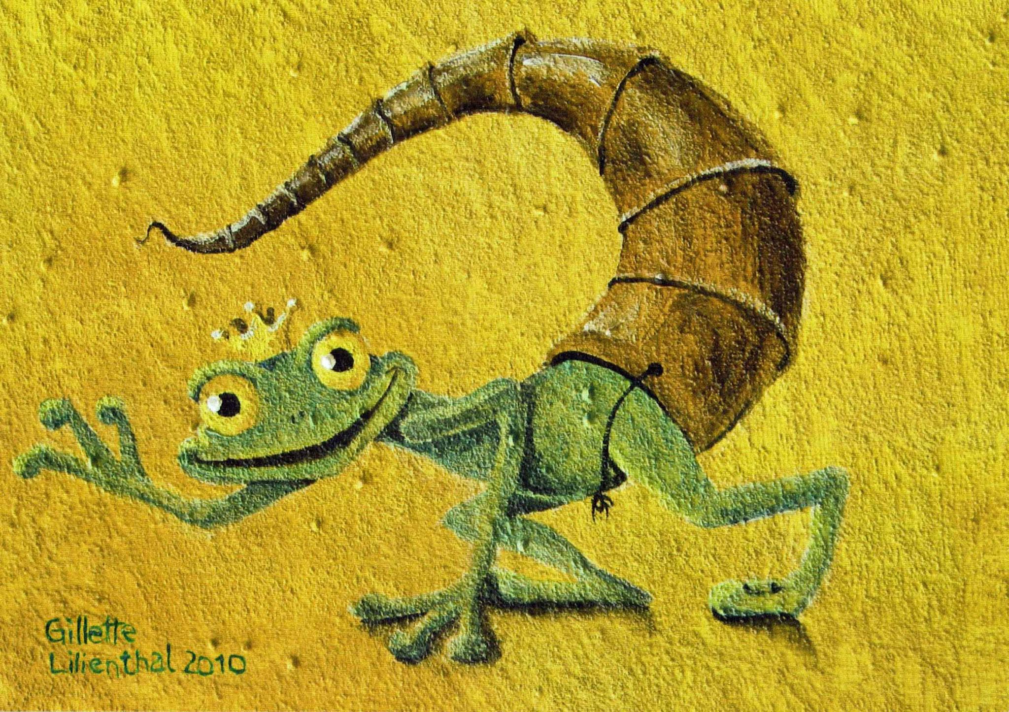 Skorpion - Öl auf Leinwand auf Bestellung und als Postkarte