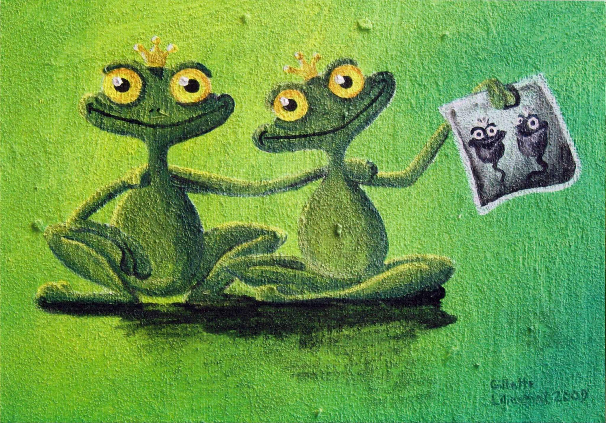 Zwilling - Öl auf Leinwand auf Bestellung und als Postkarte