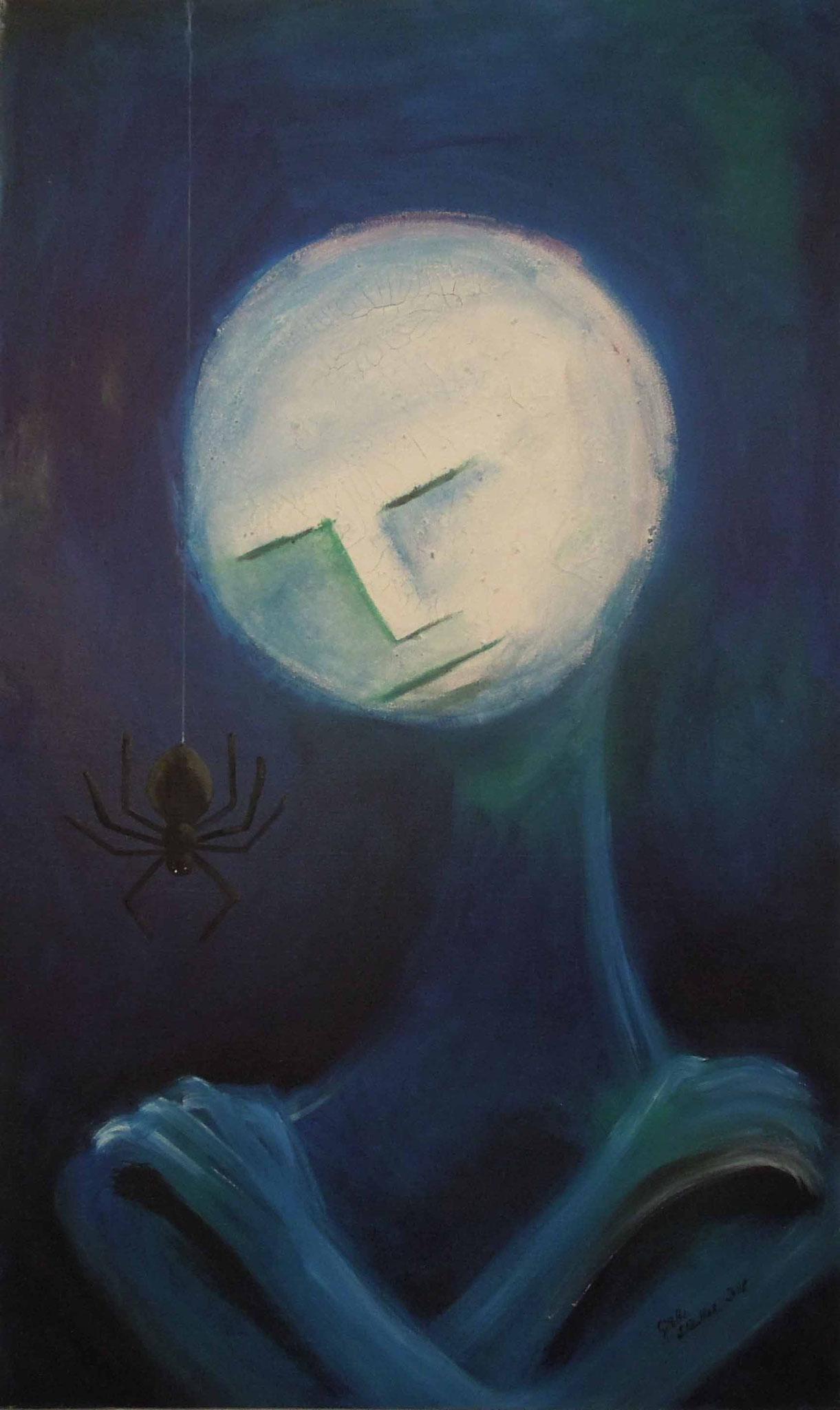 Mondmann - Öl auf Leinwand 60 x 100 cm