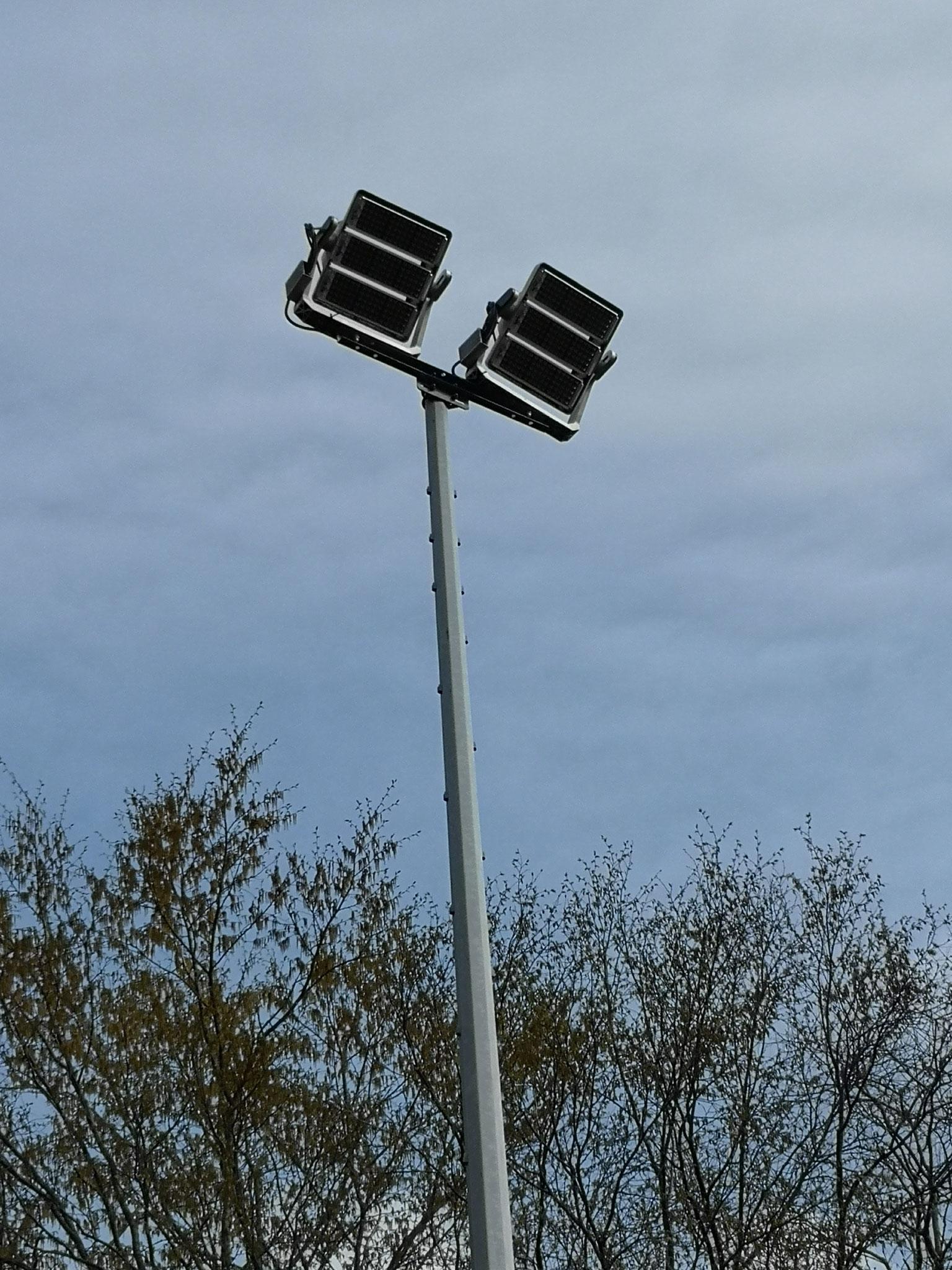 Neueste Technik der Flutlichtanlage LED