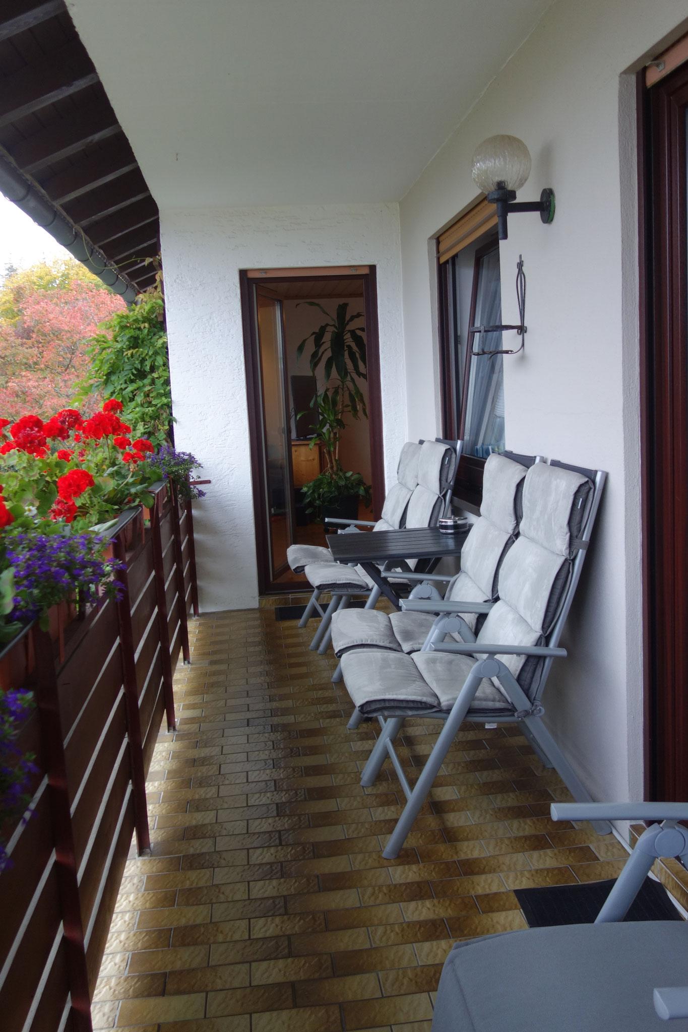 FEWO Guilbeault Balkon vom Schlafzimmer aus