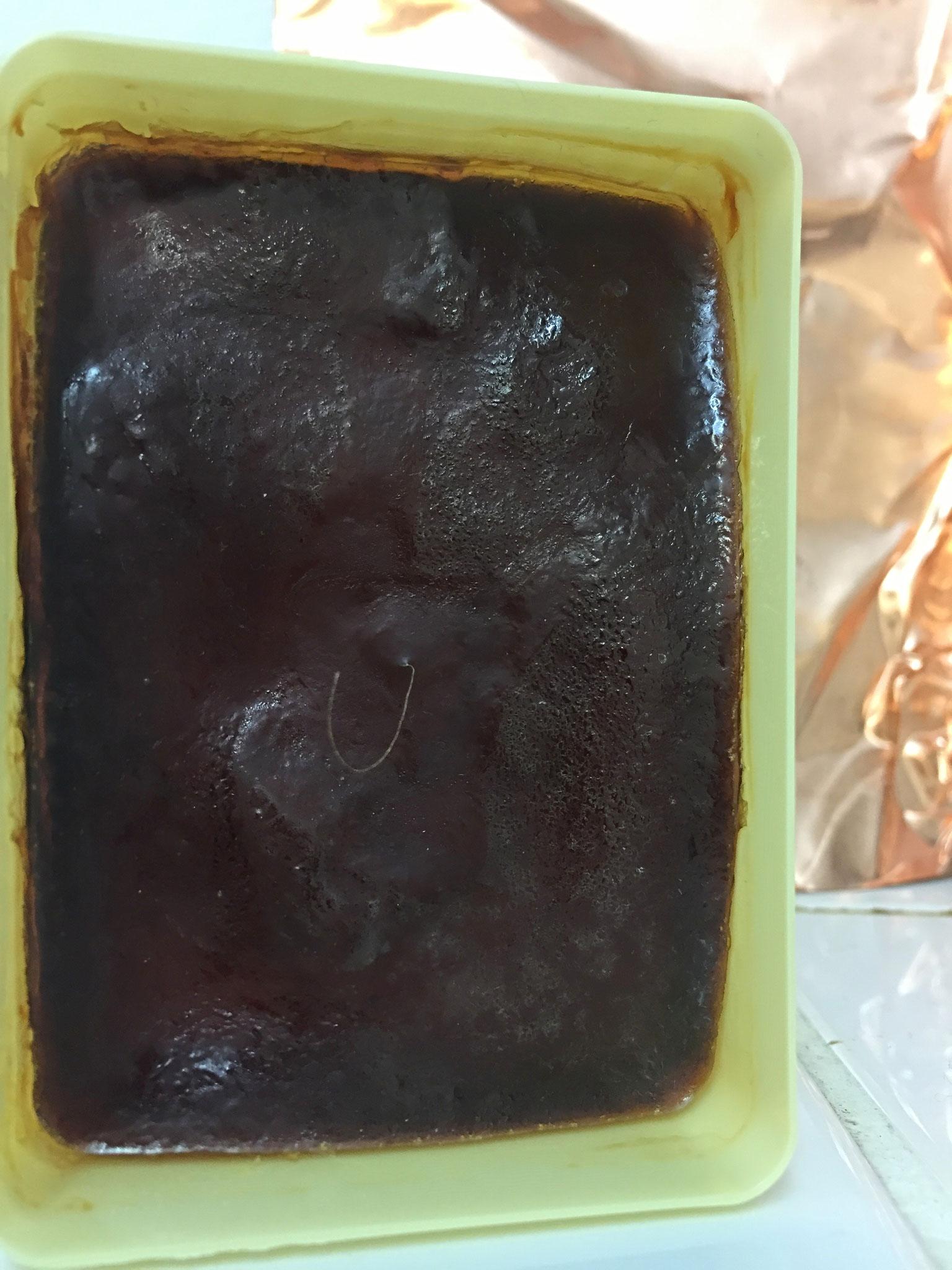 (2017, mixed media, copper, soap box, latex, pubic hair)