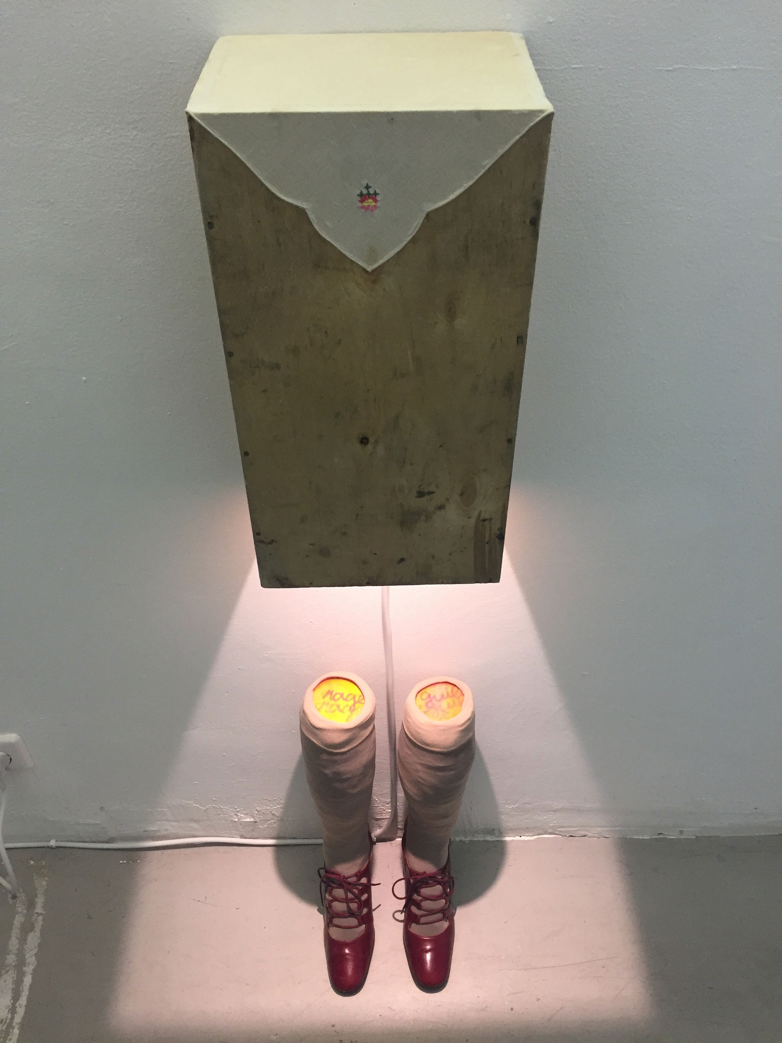 Rage and Guilt (2020, mixed media, holograms from Jürgen Eichler)