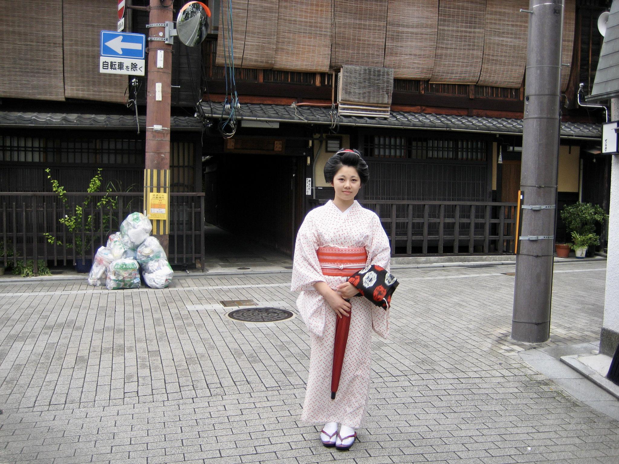 Work bound Geisha, Kyoto