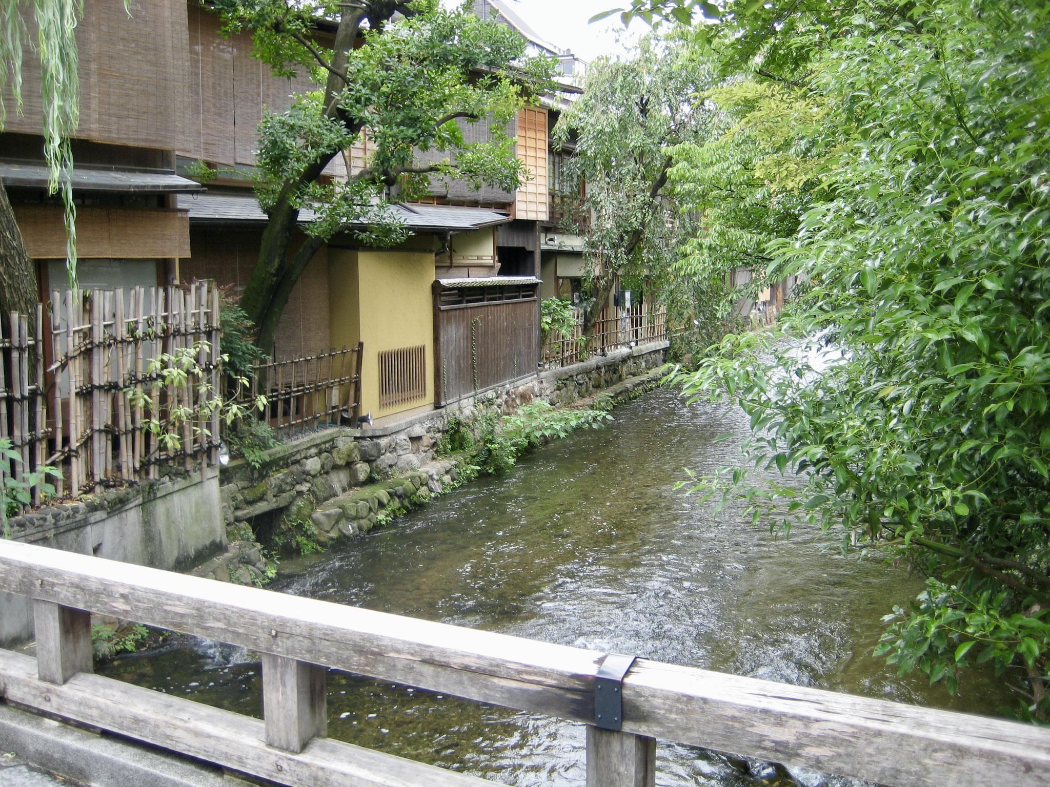 Kamogama River back street byway, Kyoto