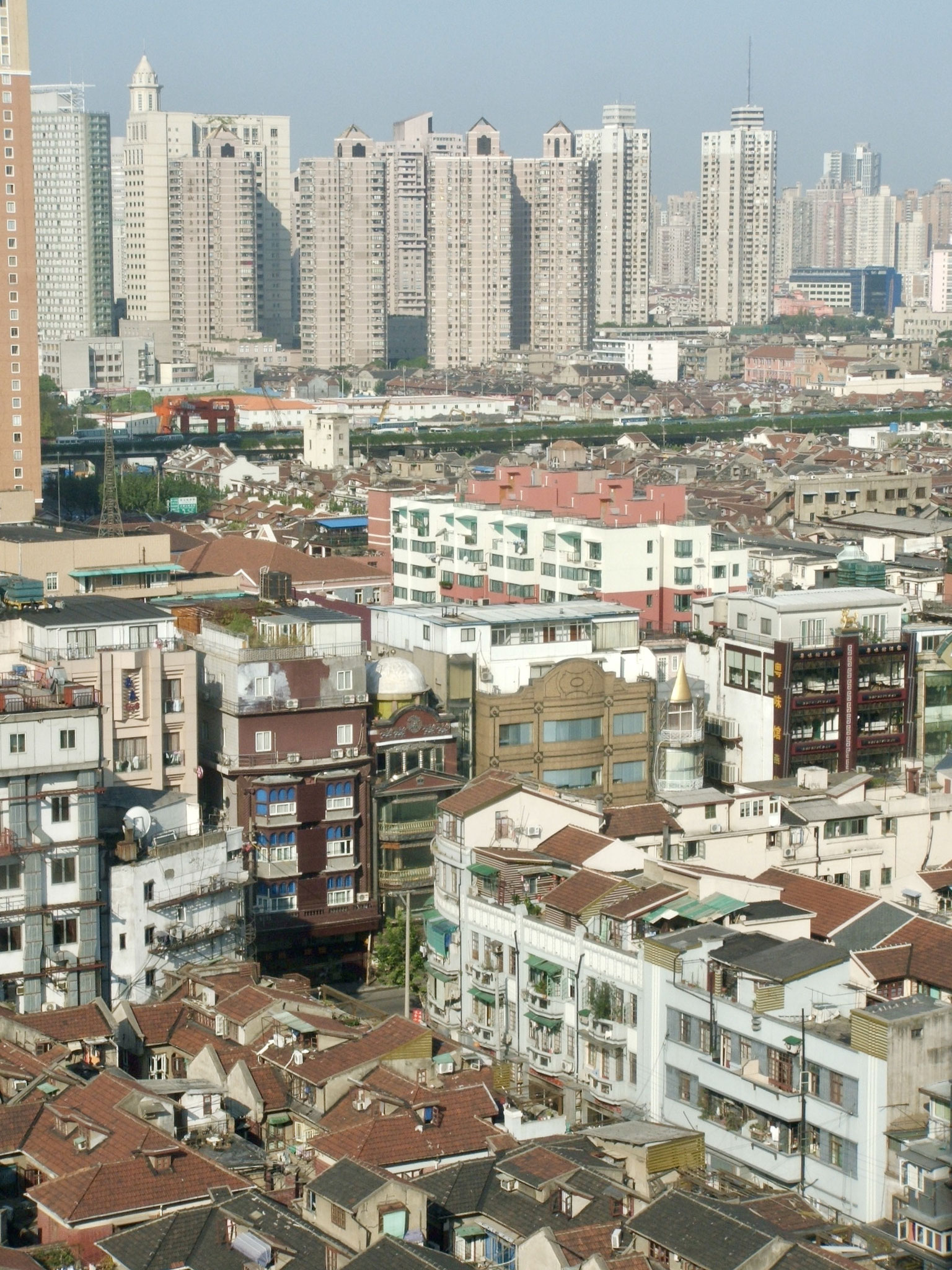 Rooftops and towers, Shanghai