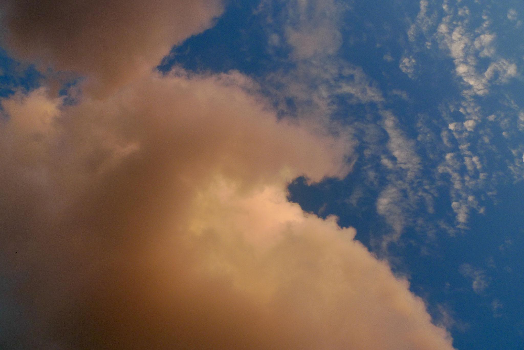 Santorini late afternoon sky