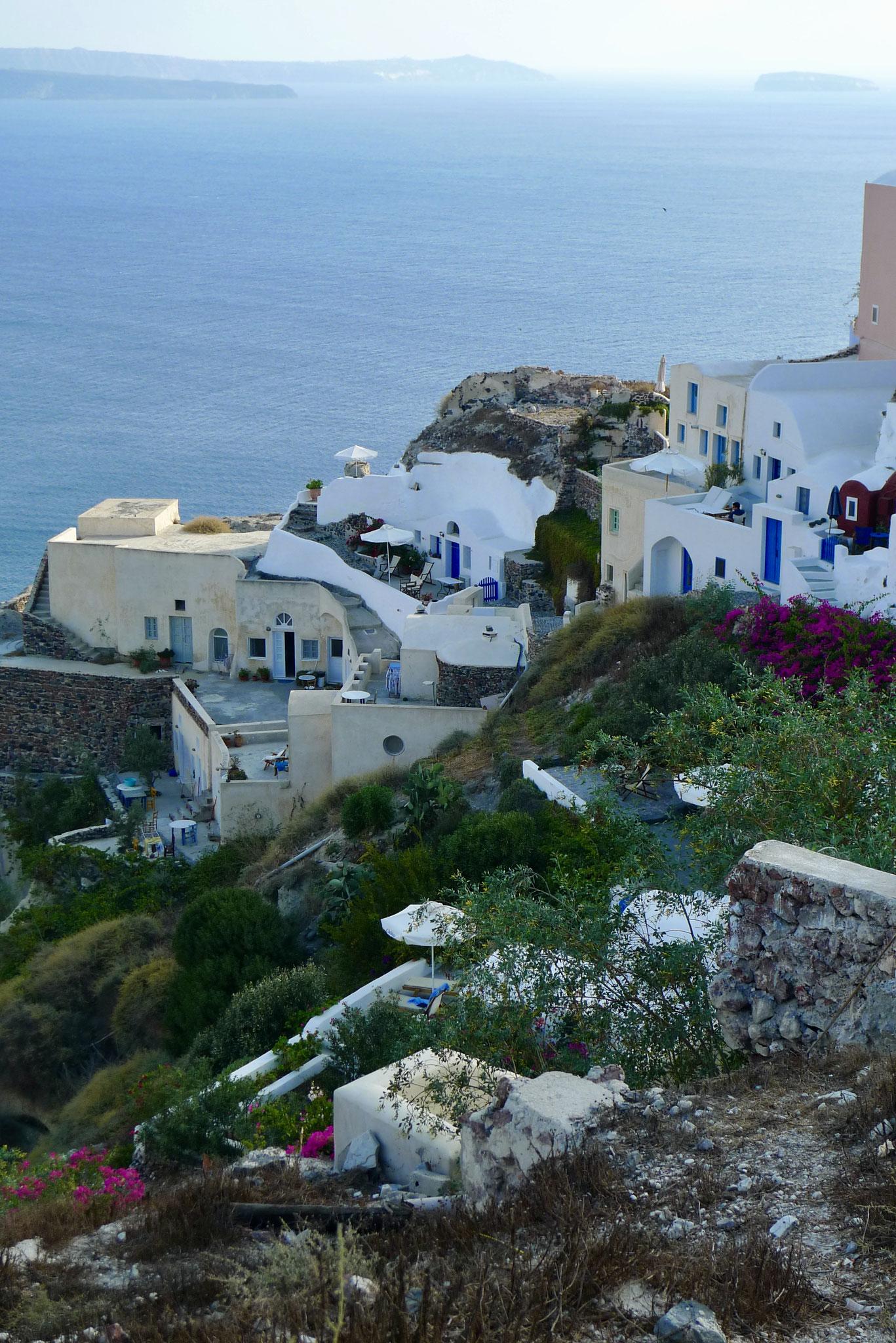 Santorini terraces