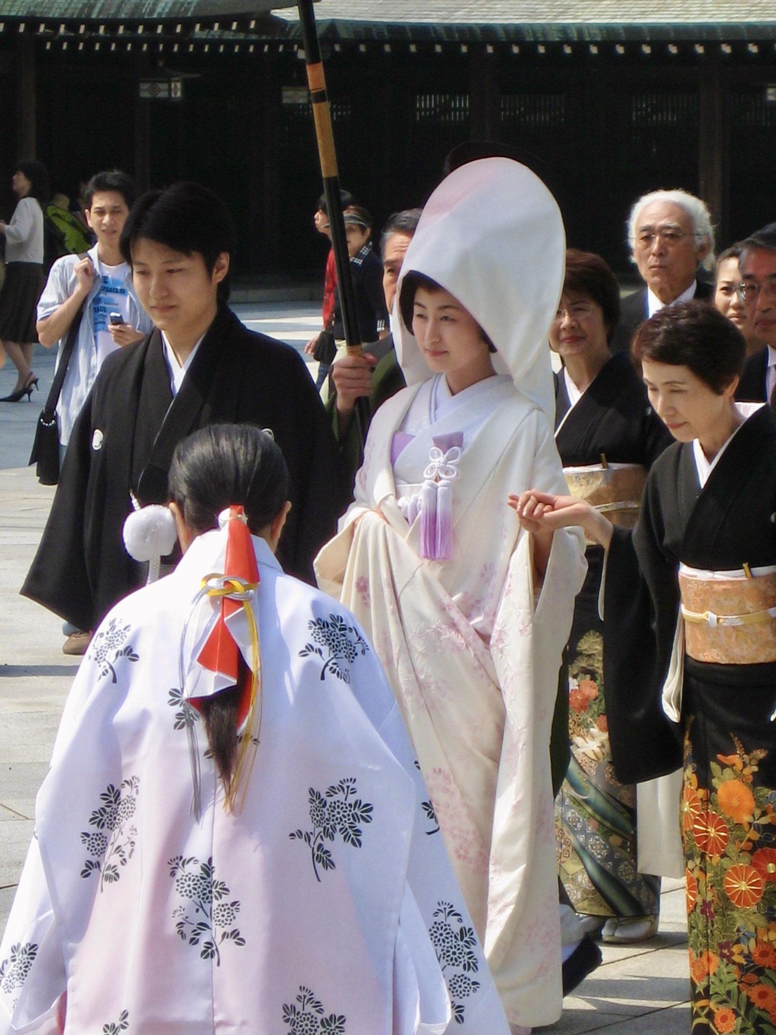 Shinto wedding couple, Tokyo