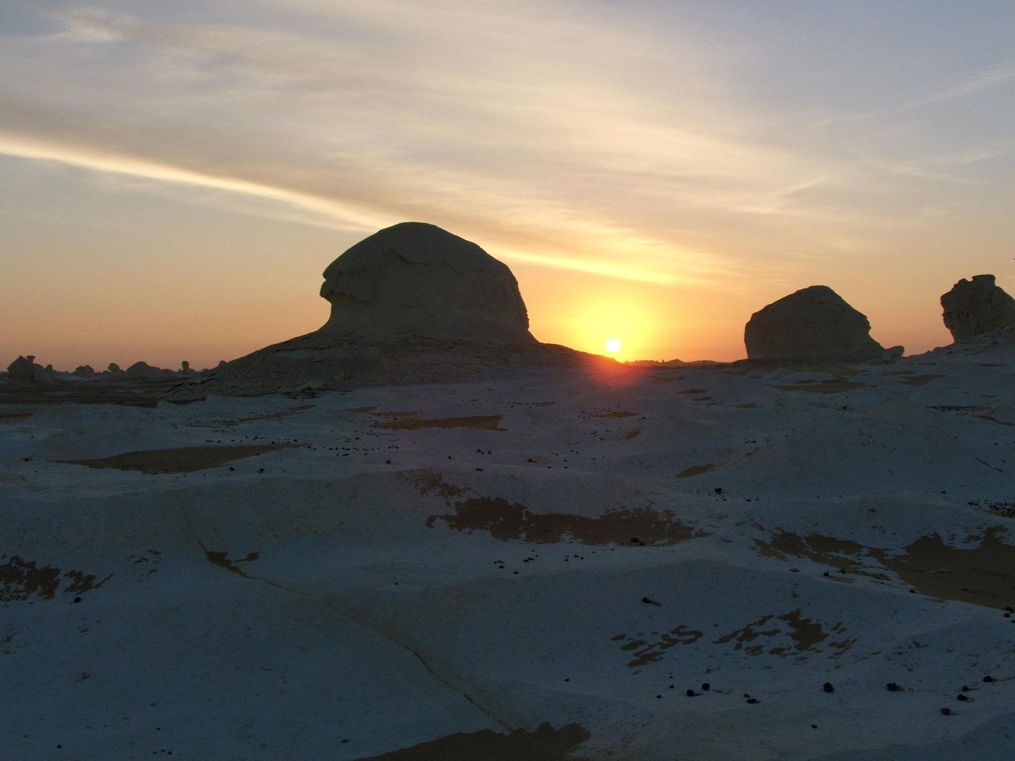 Désert blanc sunrise
