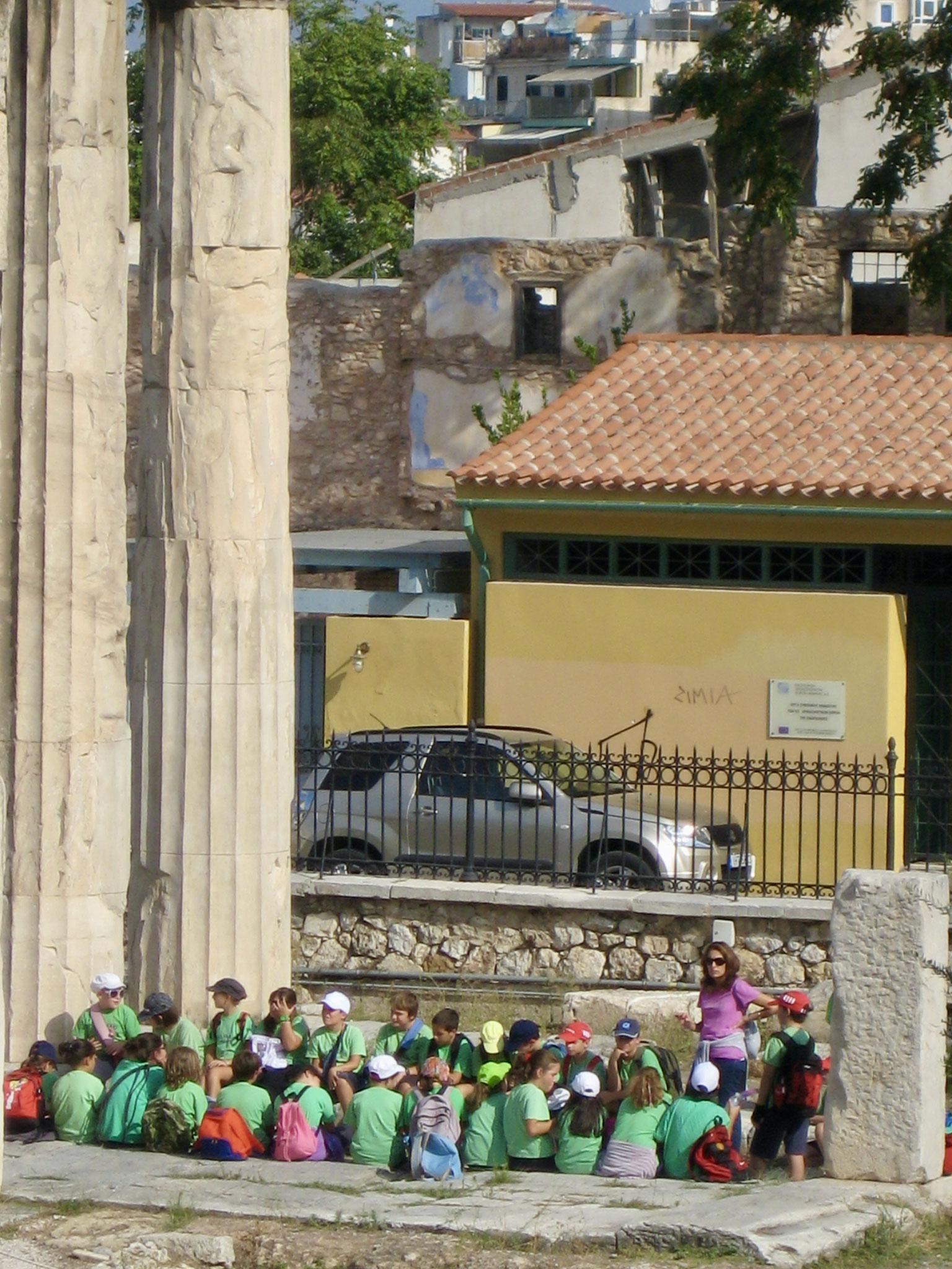 School excursion, The Parthenon
