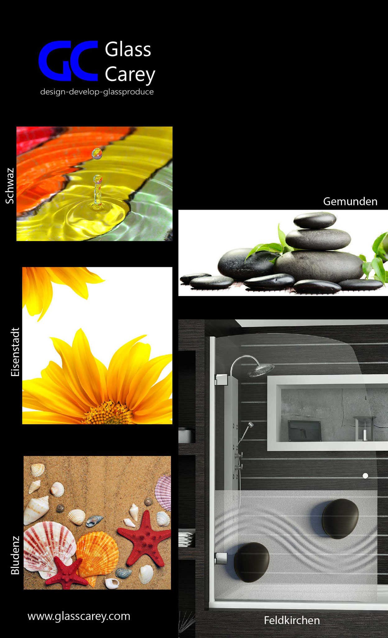 Impresión digital vidrio mamparas baño. VIDRIOTEC (Murcia)