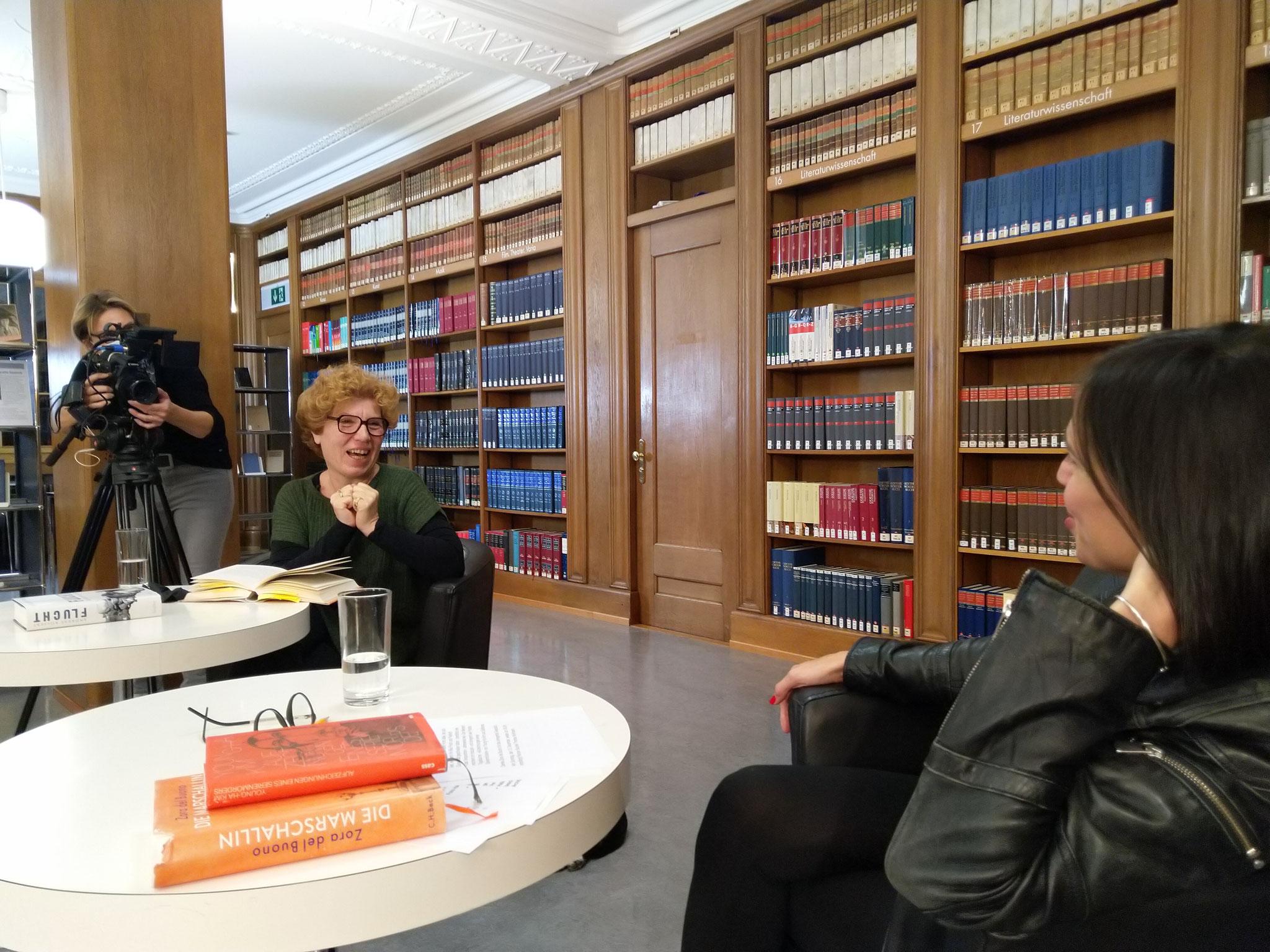TV-Literatursendung mit Zora del Buono im Rahmen der Schaffhauser Buchwoche