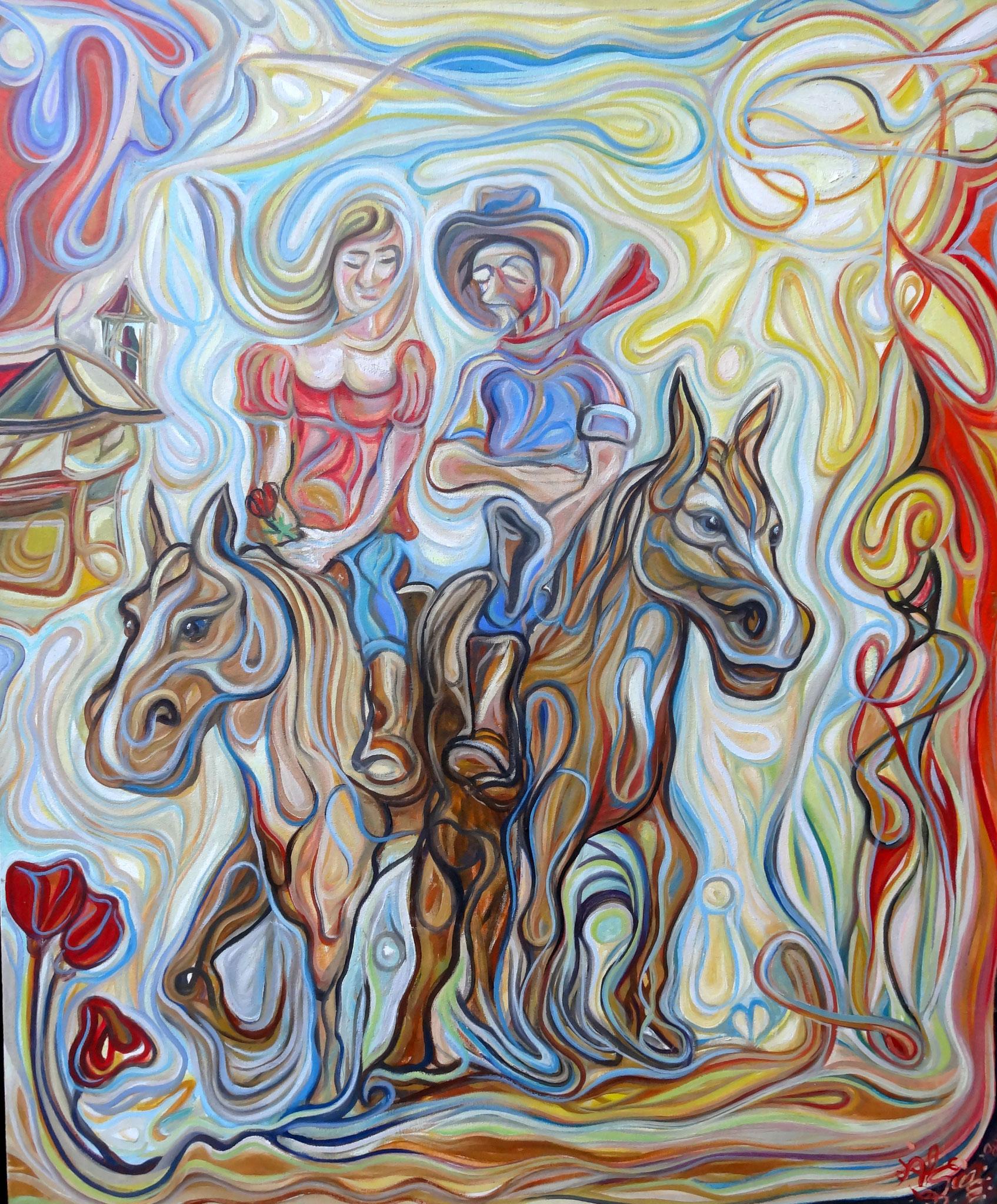 Los norteños / Óleo sobre lienzo / 120 x 100 cm / 2009