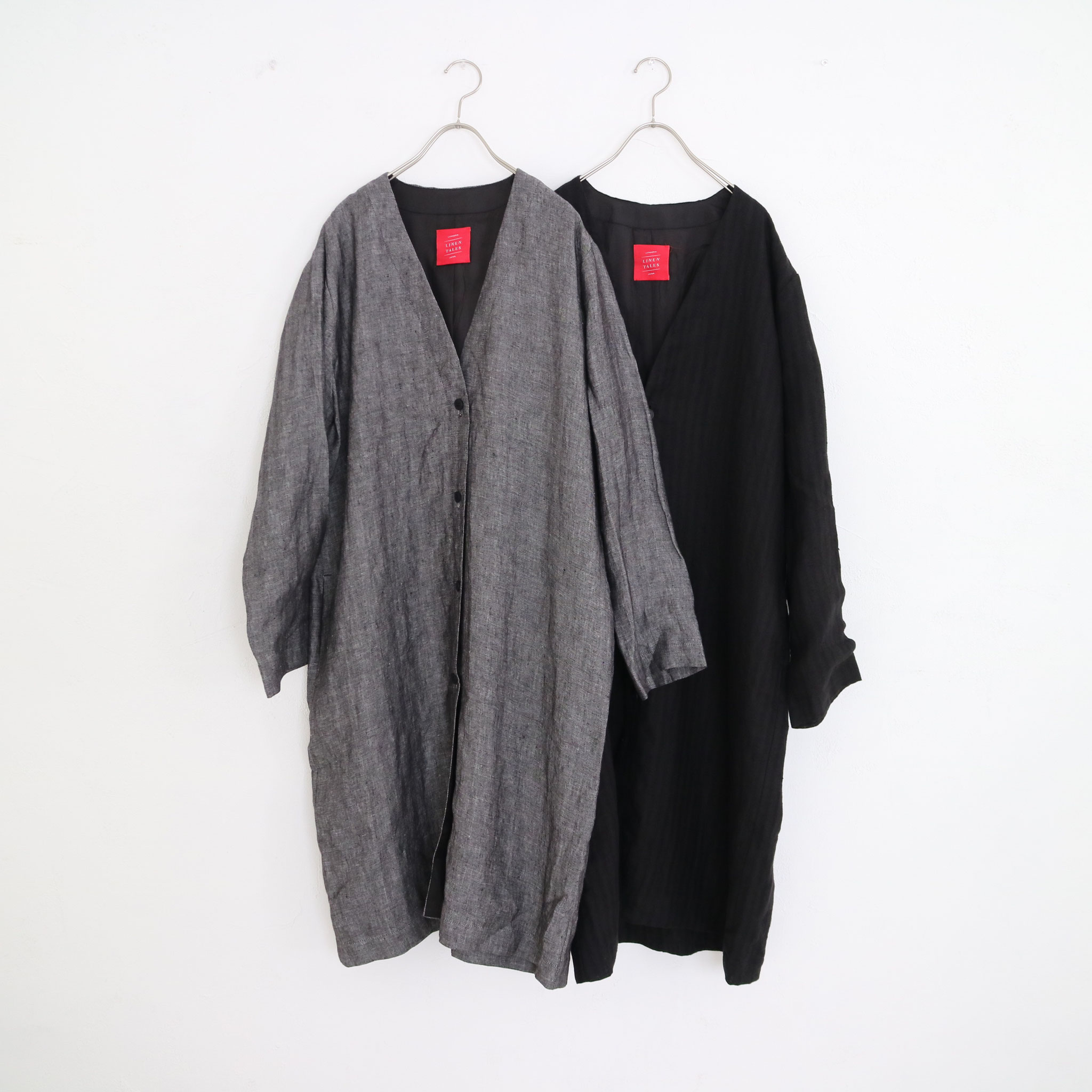 Herringbone BK Chambray→ Black