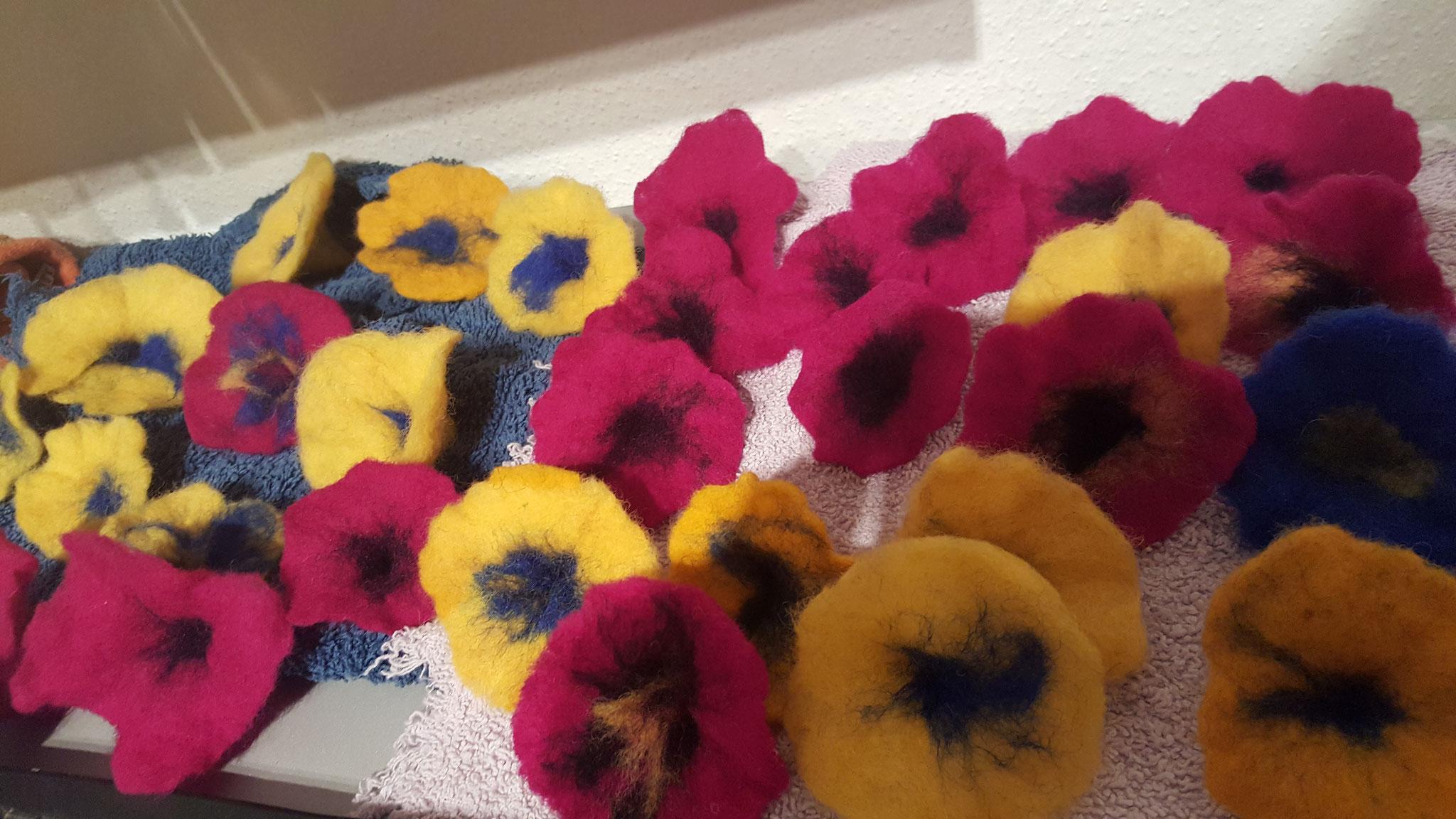 Unsere Filzblüten