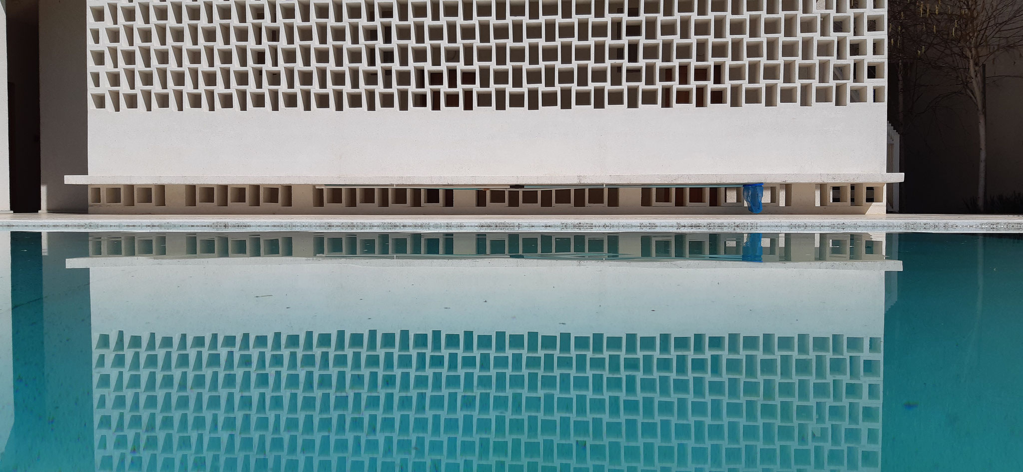 Wall by the pool