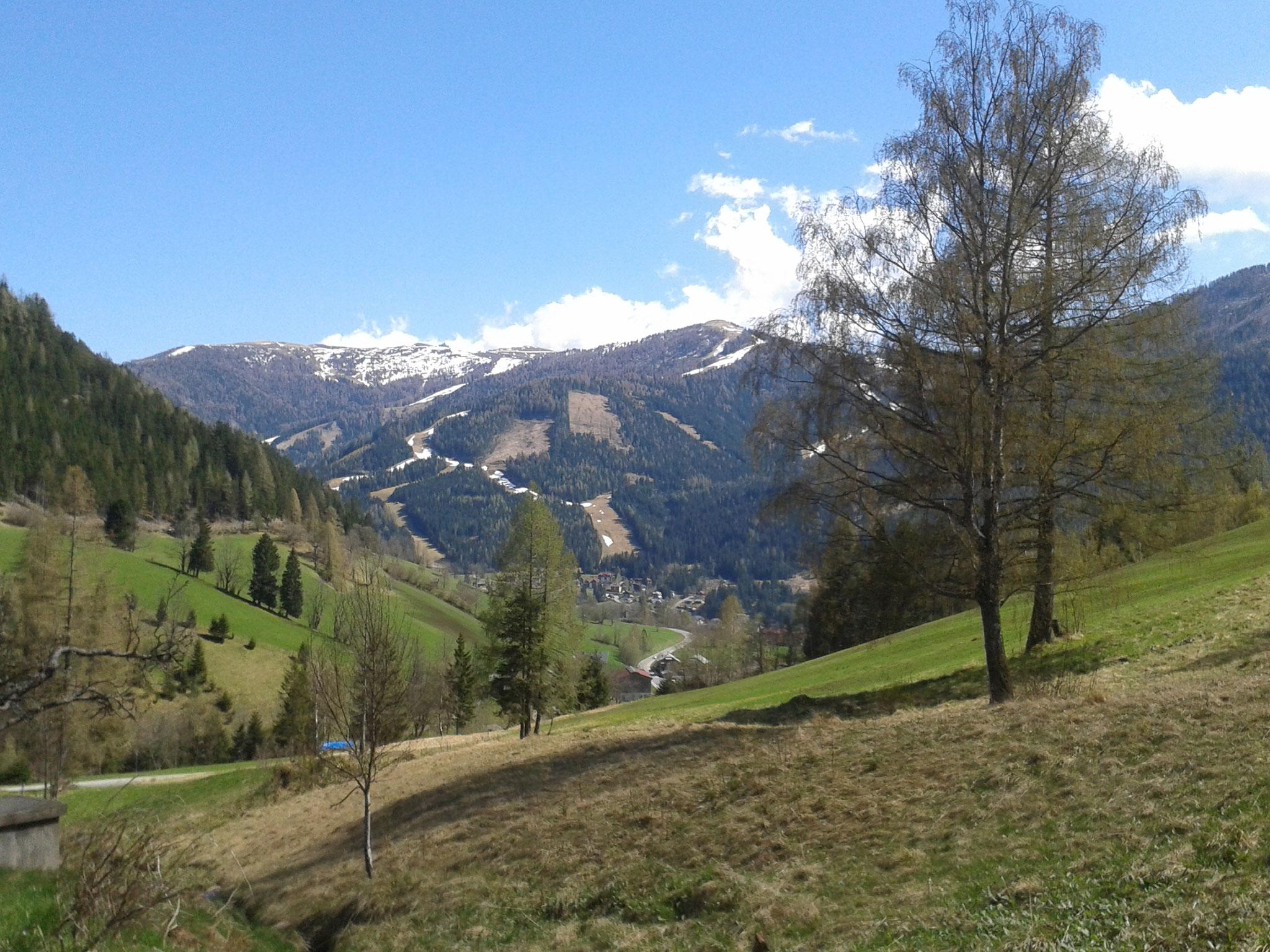 Blick nach Bad Kleinkirchheim