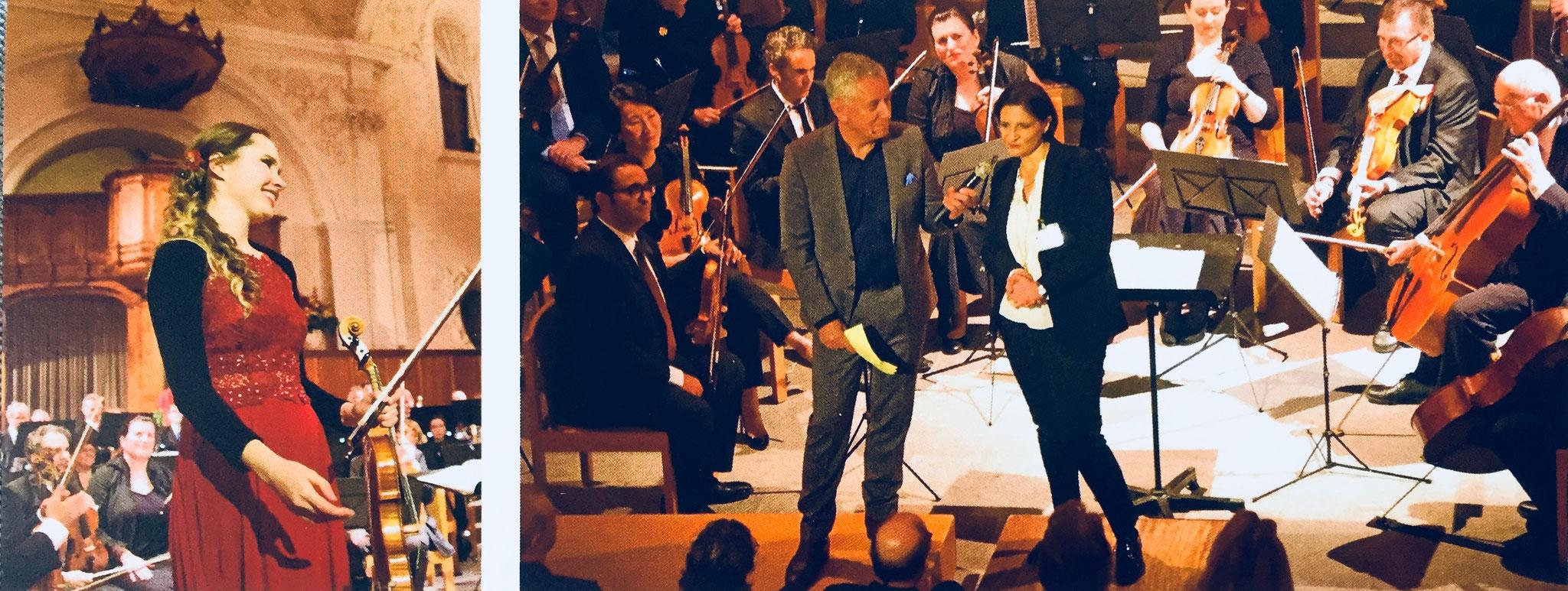 Konzert in St. Peter (Zuerich), Spendeparlament 1.12.2016. Moderator- Röbi Koller, Orchester Gesellschaft Zürich, Solistin- Kateryna Timokhina
