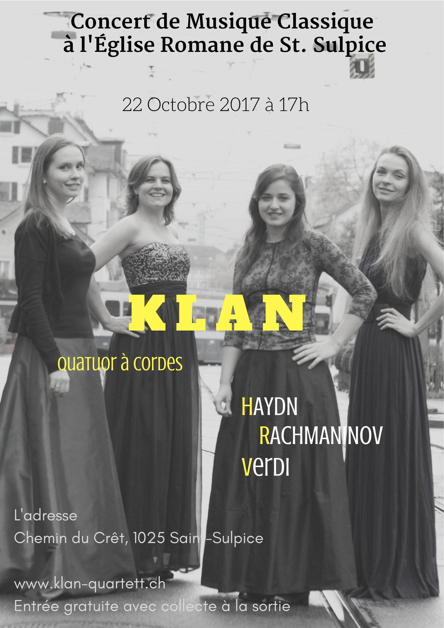 Klan Quartett, 22 Oktober 2017, St. Sulpice
