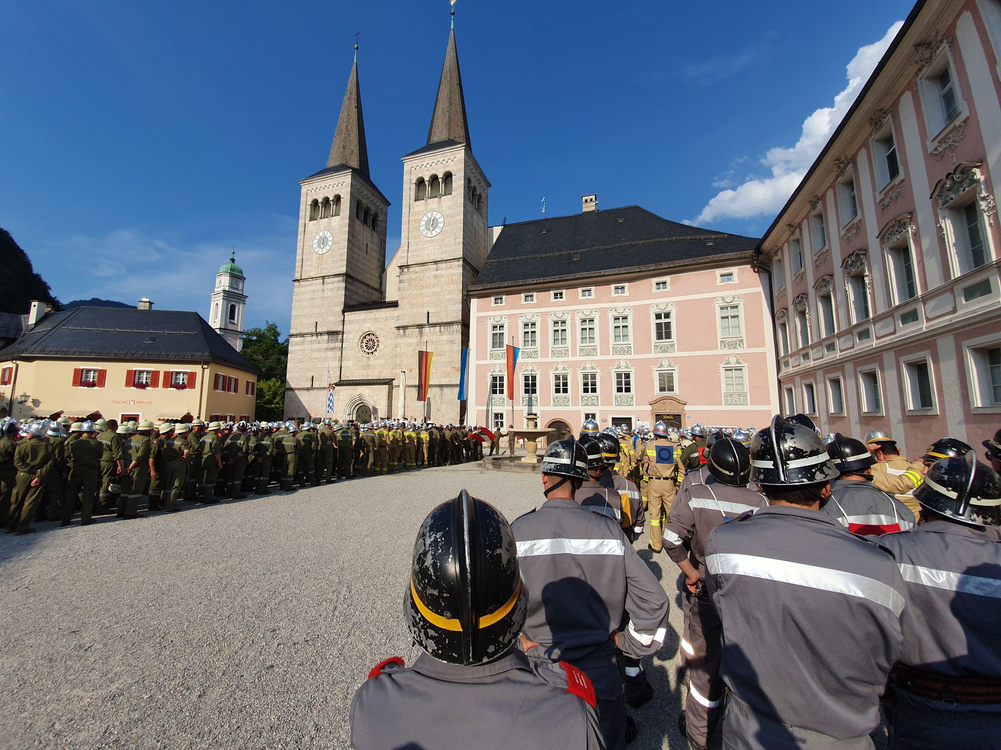 Siegerehrung am Schlossplatz
