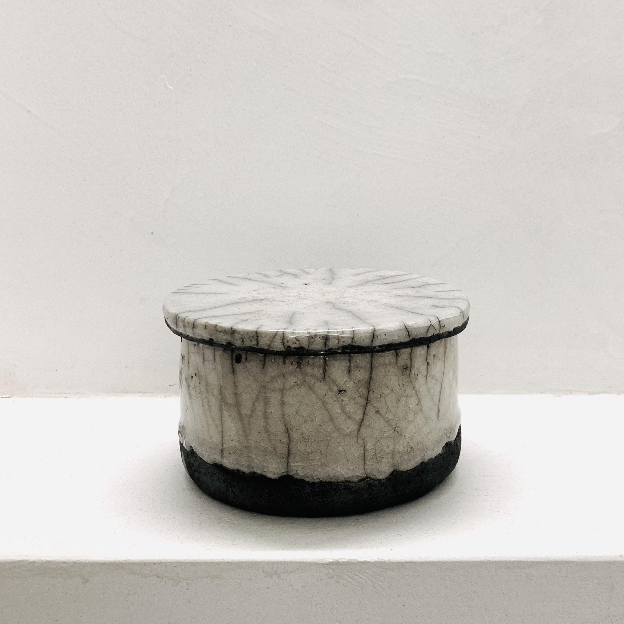RAKU - Bowl with lid (Series PURE)