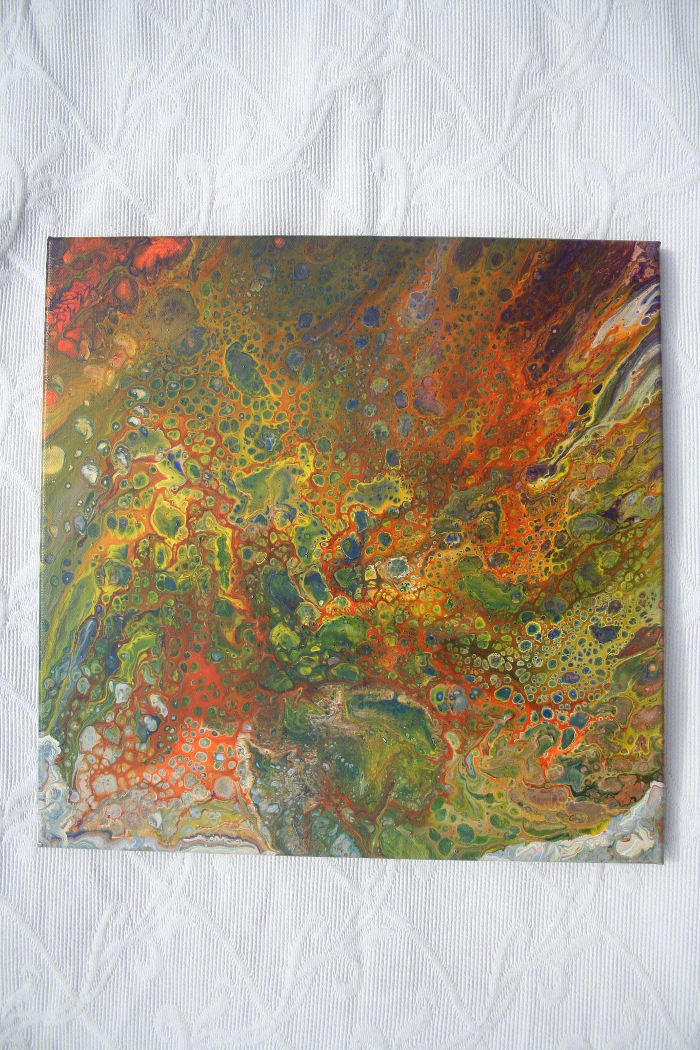 """""""Earth from Above"""" Acryl auf Leinwand 40x40cm"""